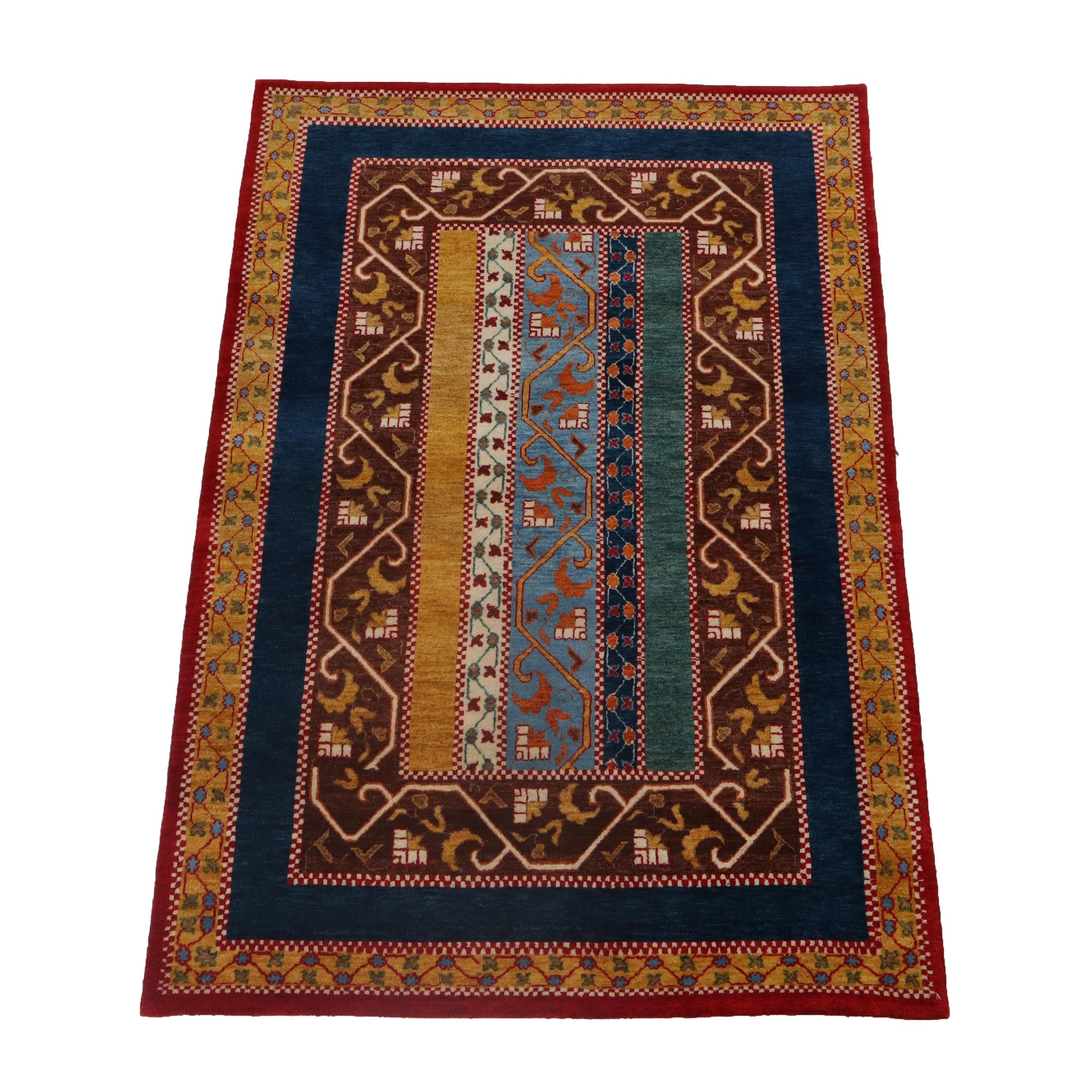 3'11 x 5'10 Hand-Knotted Pakistani Persian Tabriz Wool Rug