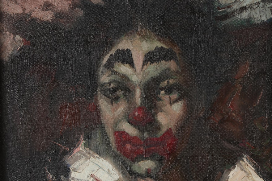 Armando Oil Portrait Of Clown