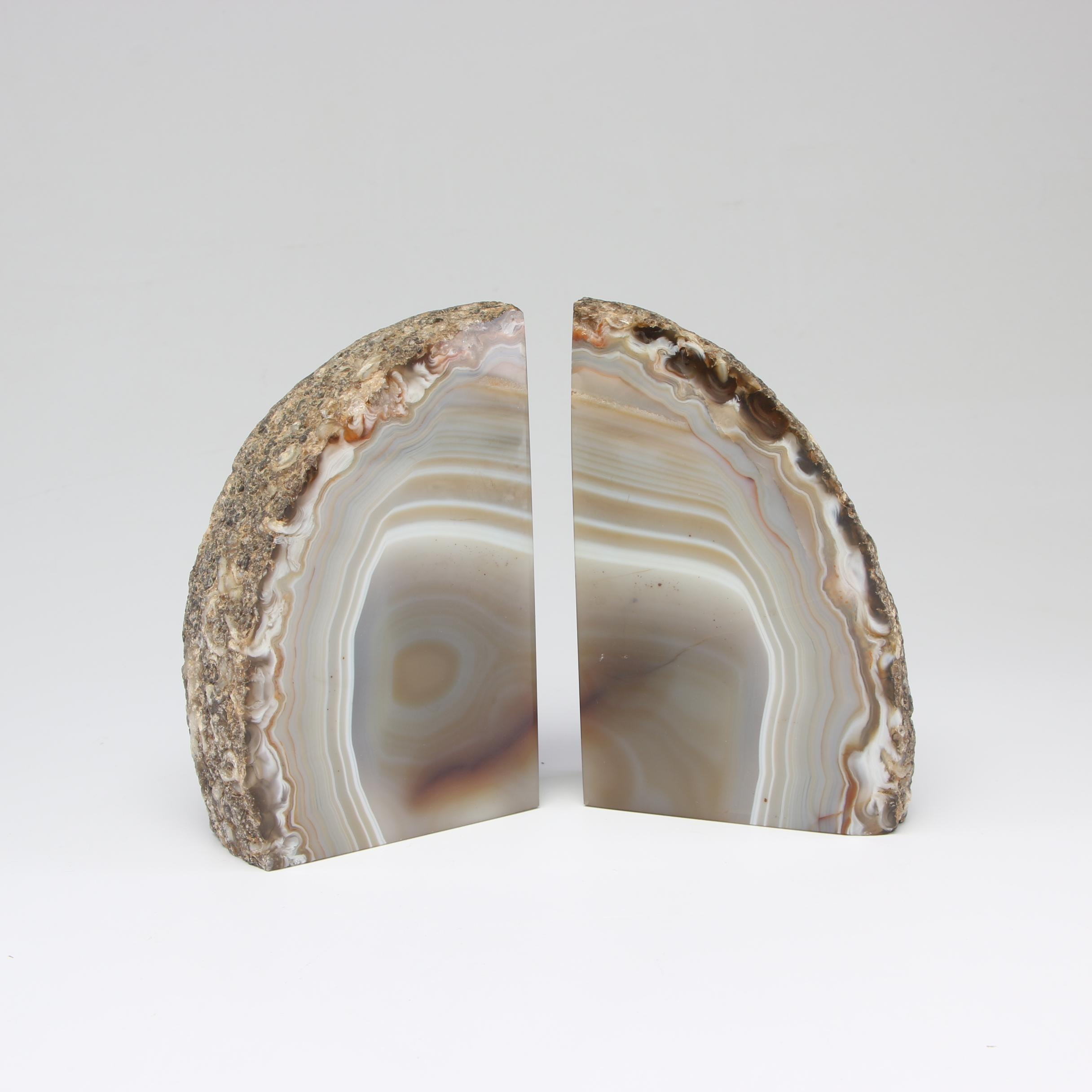 Sliced Agate Bookends