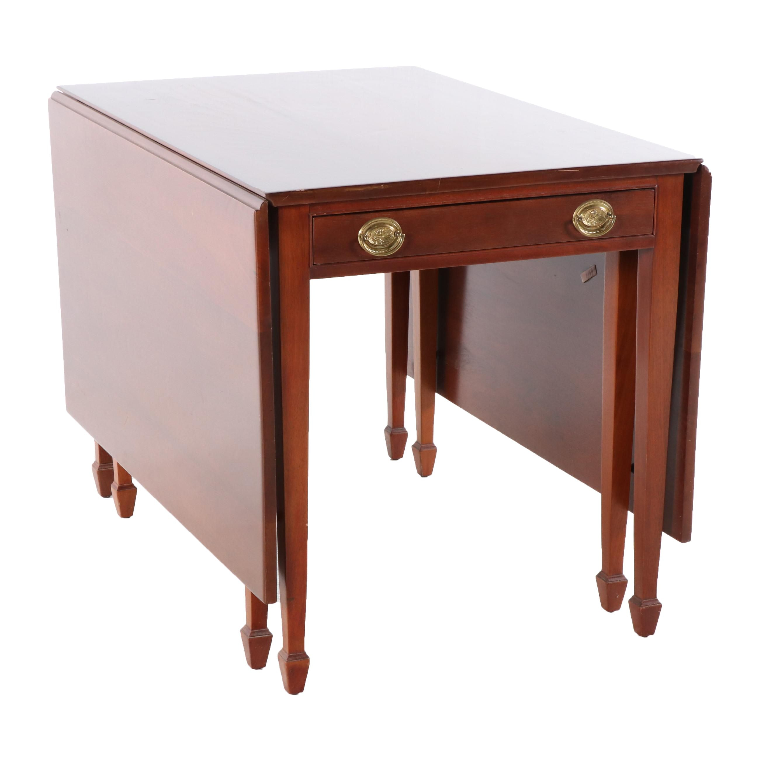 Federal Style Mahogany Drop Leaf Dining Table by The Georgetown Galleries
