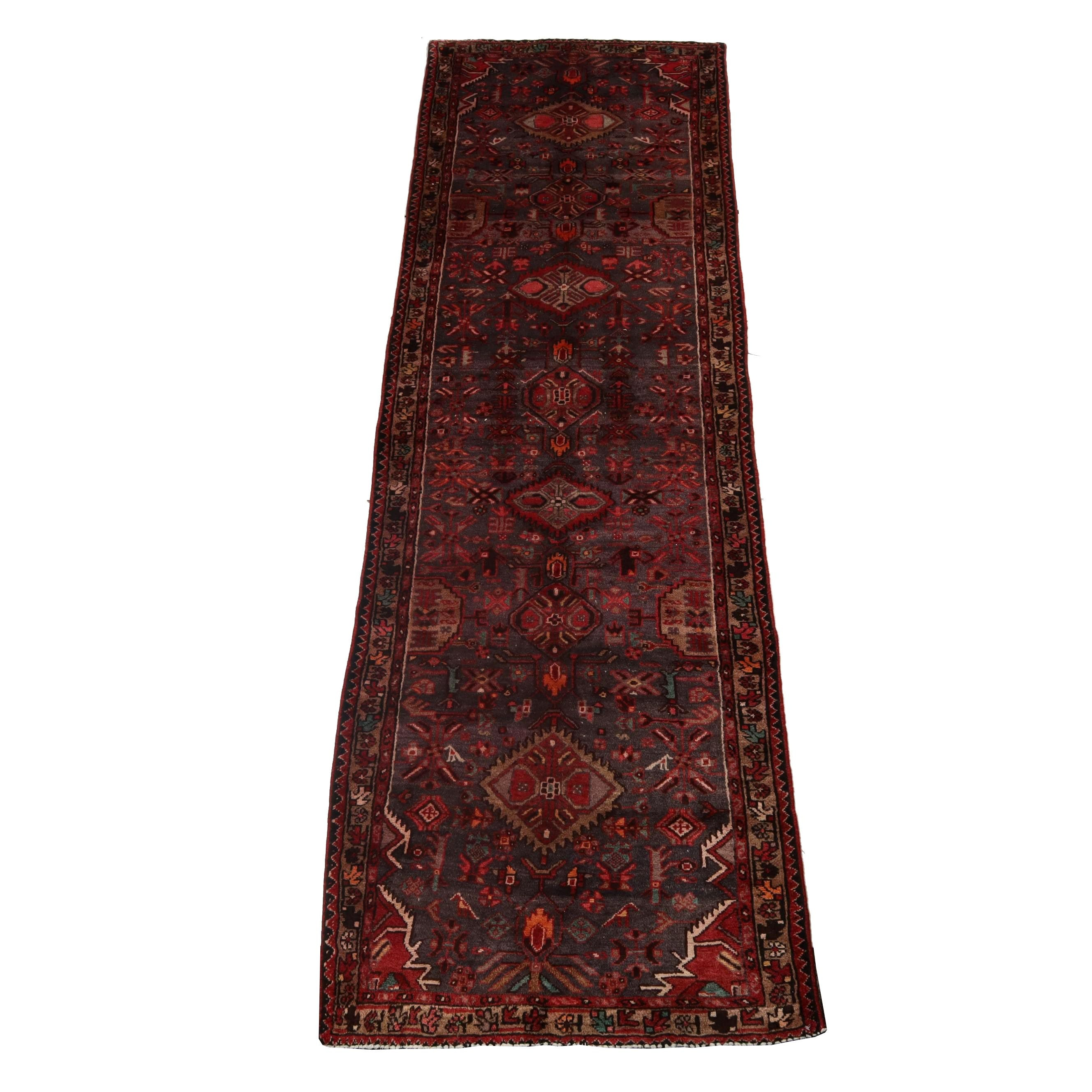 3.8' x 12.1' Hand-Knotted Northwest Persian Wool Long Rug