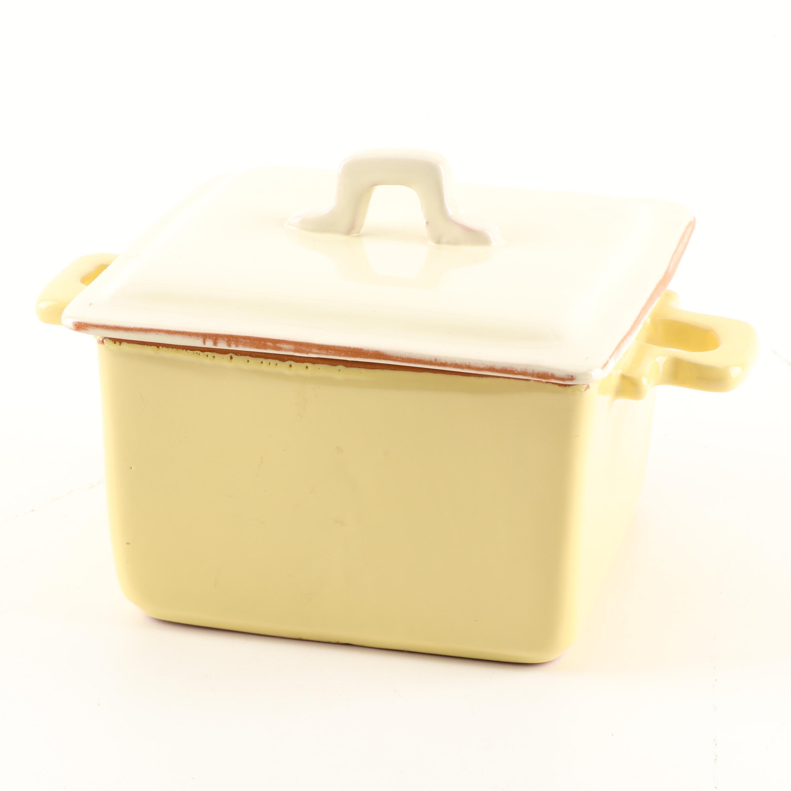 Vietri Ceramic Square Baker With Lid