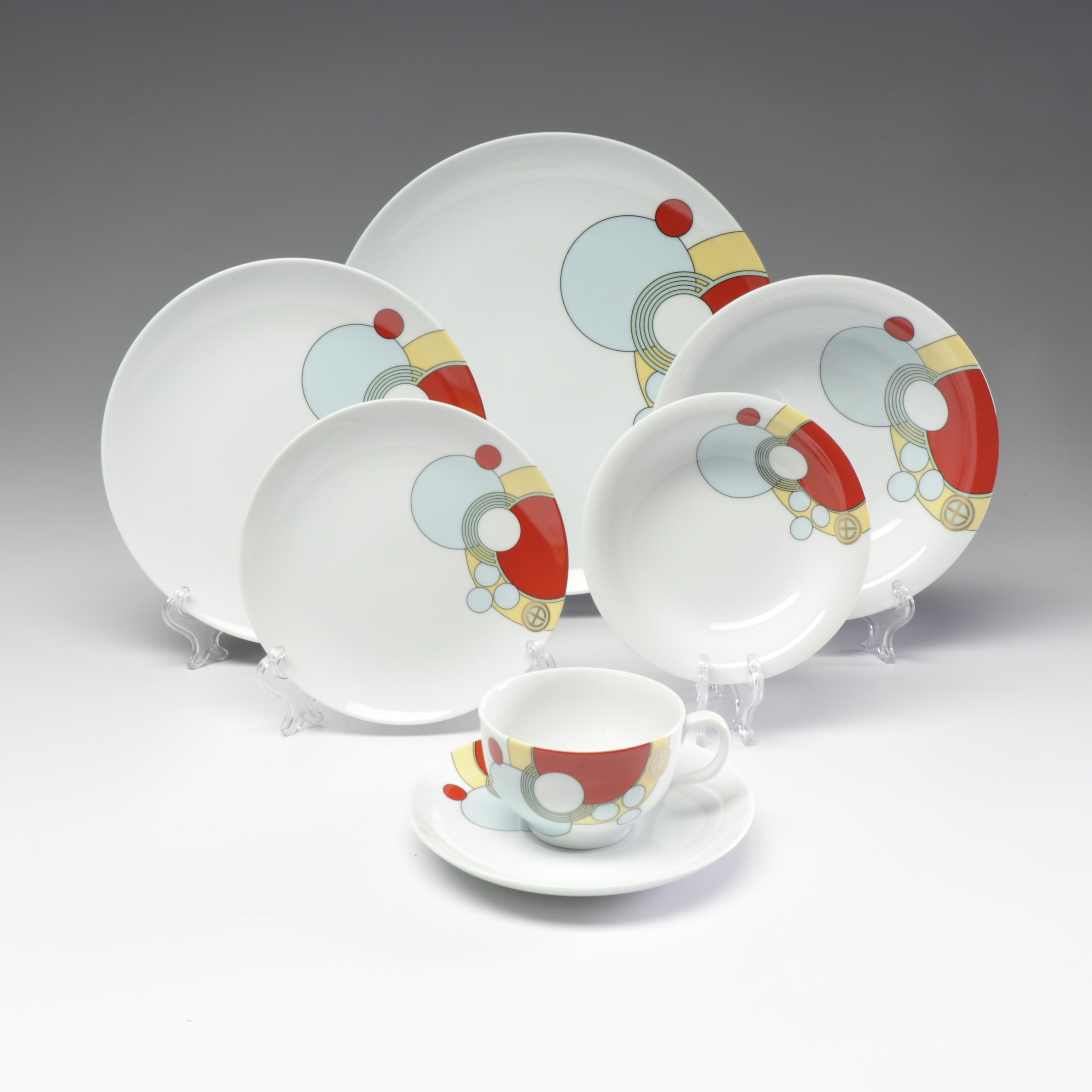 "Noritake Frank Lloyd Wright Modernist ""Heinz and Co."" Dishes, 1984"