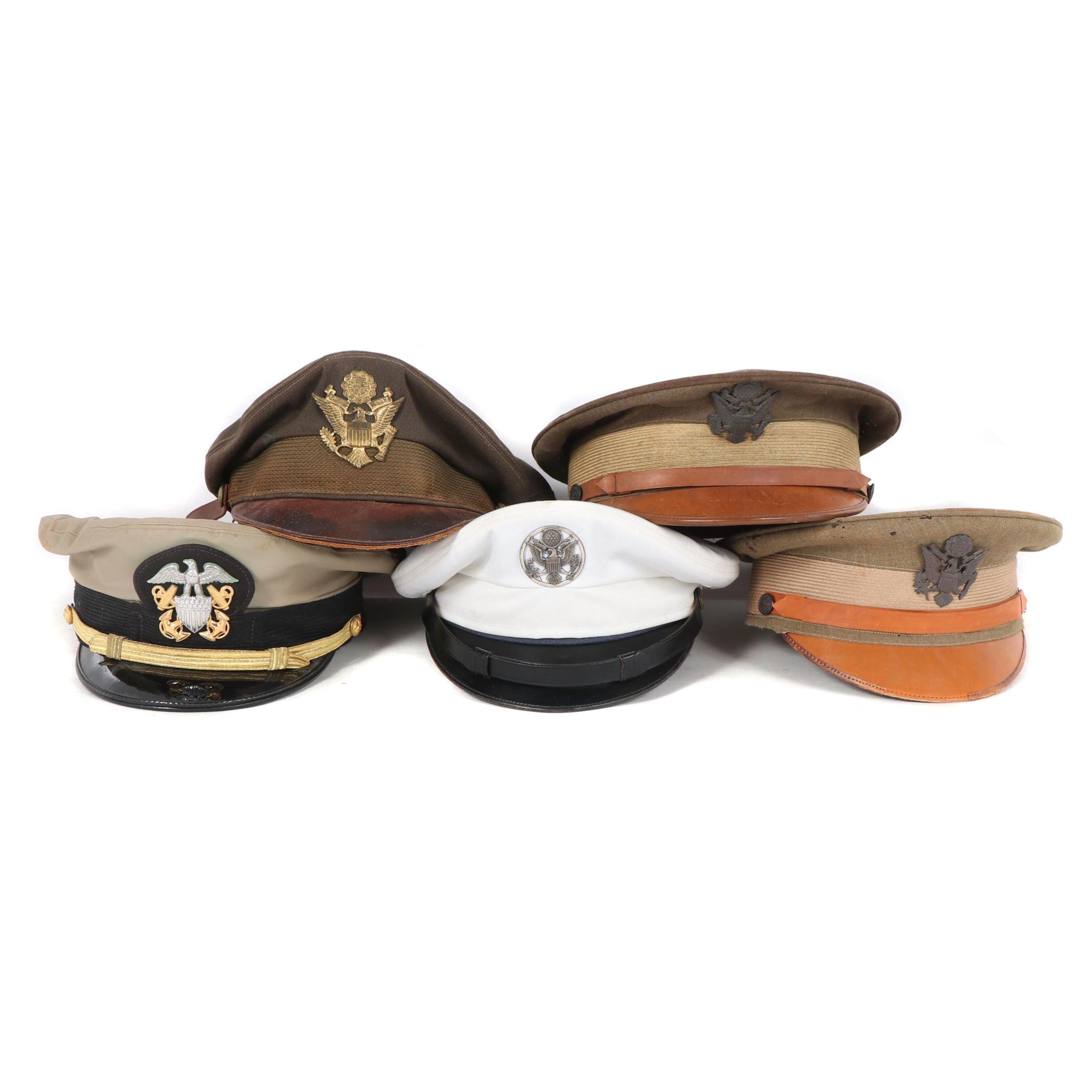 United States Navy Uniform Hats, Vintage