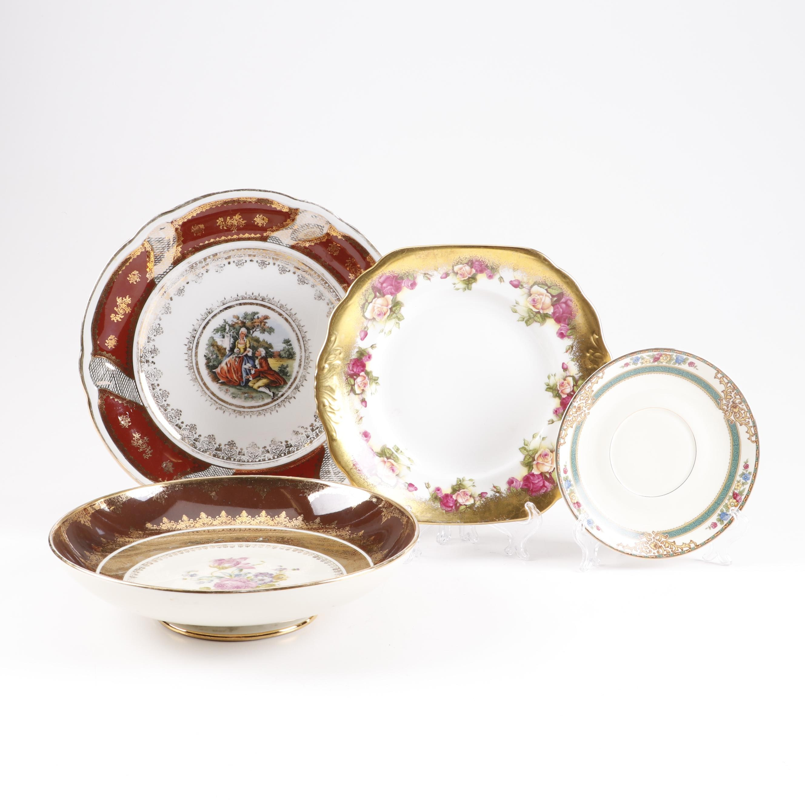 Bavarian Porcelain and English Bone China Tableware
