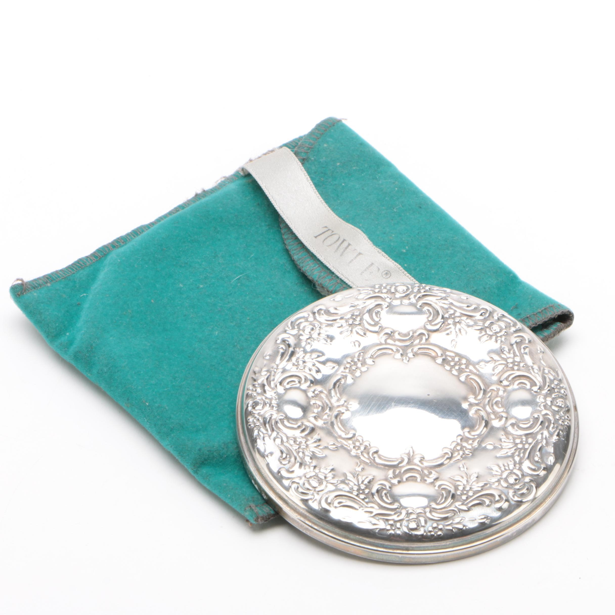 Towle Sterling Silver Compact Mirror