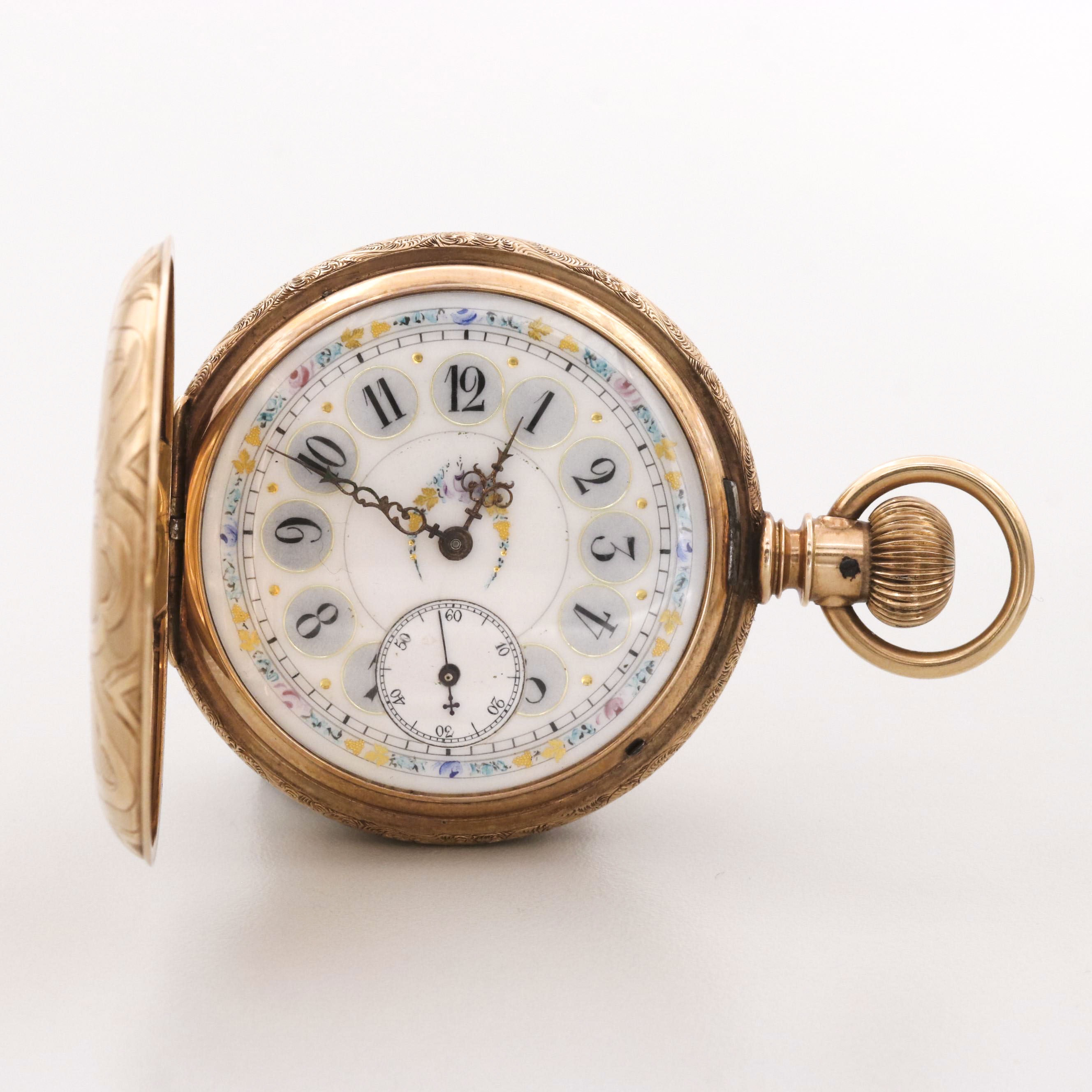 Non Magnetic Watch Co. 14K Yellow Gold Swiss Made Pocket Watch