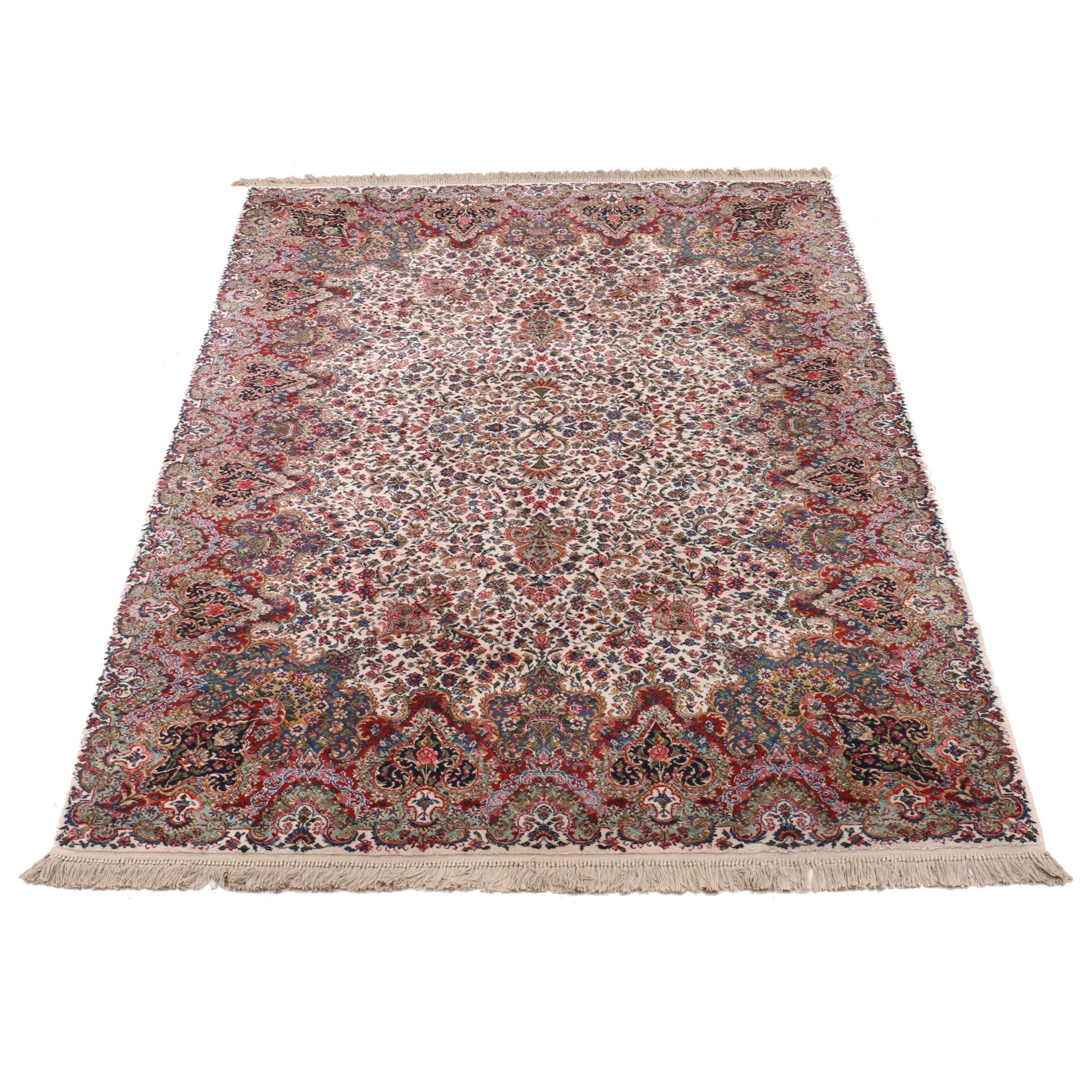 "Machine Made Karastan ""Floral Kirman"" Wool Area Rug"