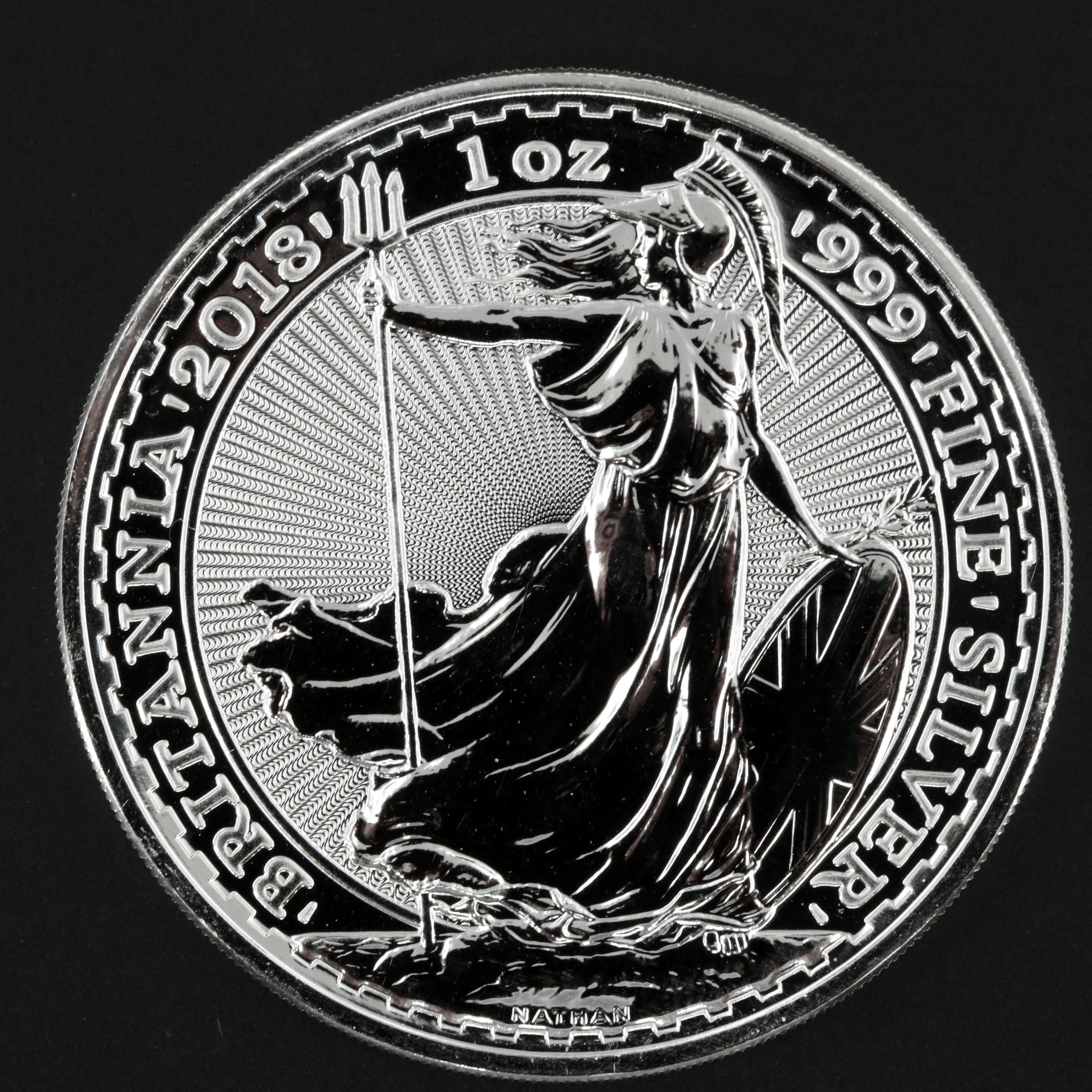 2018 Two Pound Britannia Silver Coin