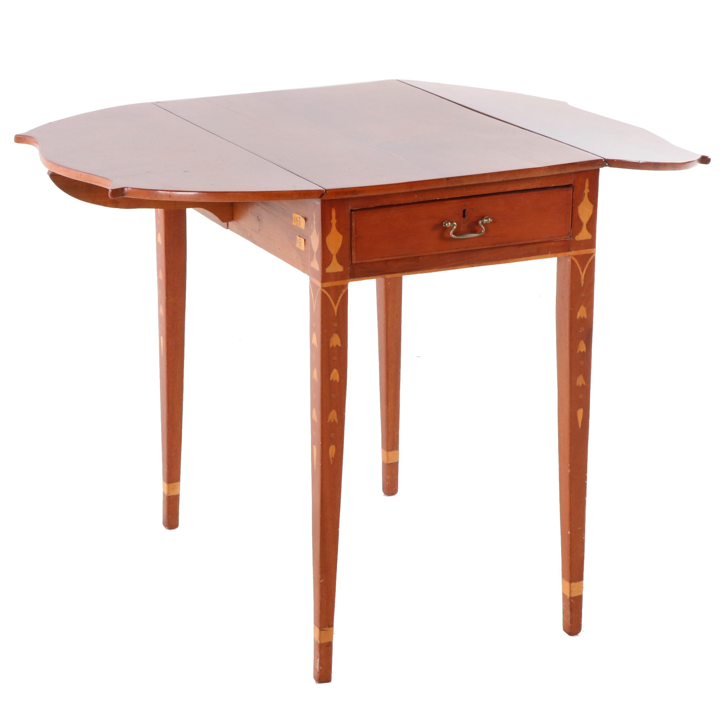 Federal Style Pembroke Table in Paint-Decorated Cherry, Early 20th Century