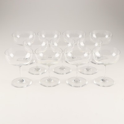 """Baccarat """"Perfection"""" Crystal Champagne Coupes"""