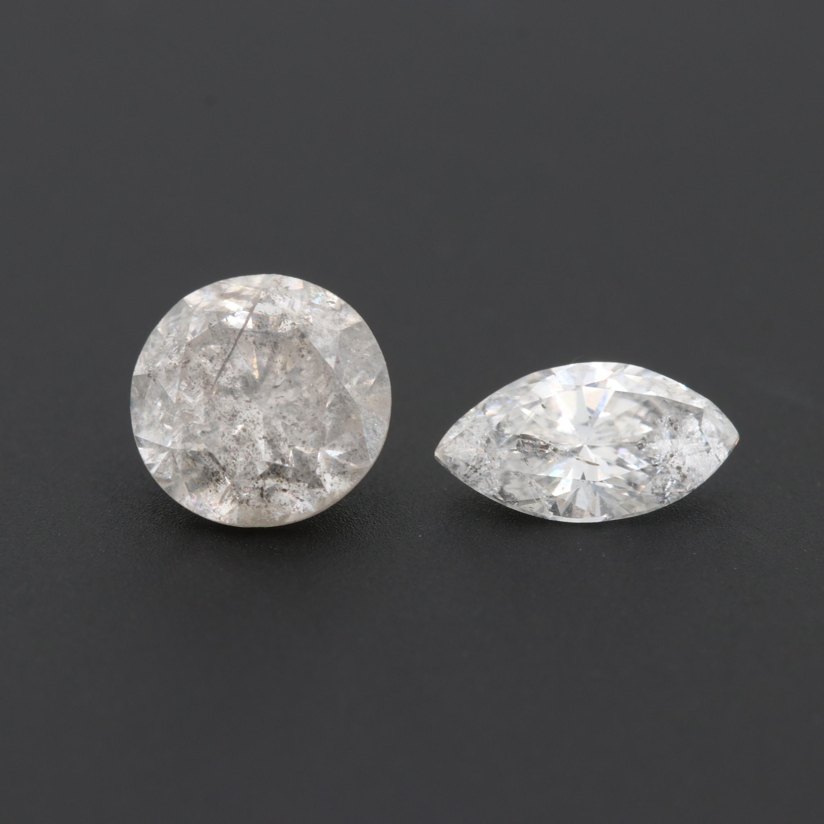 Loose 2.10 CTW Diamond Gemstones