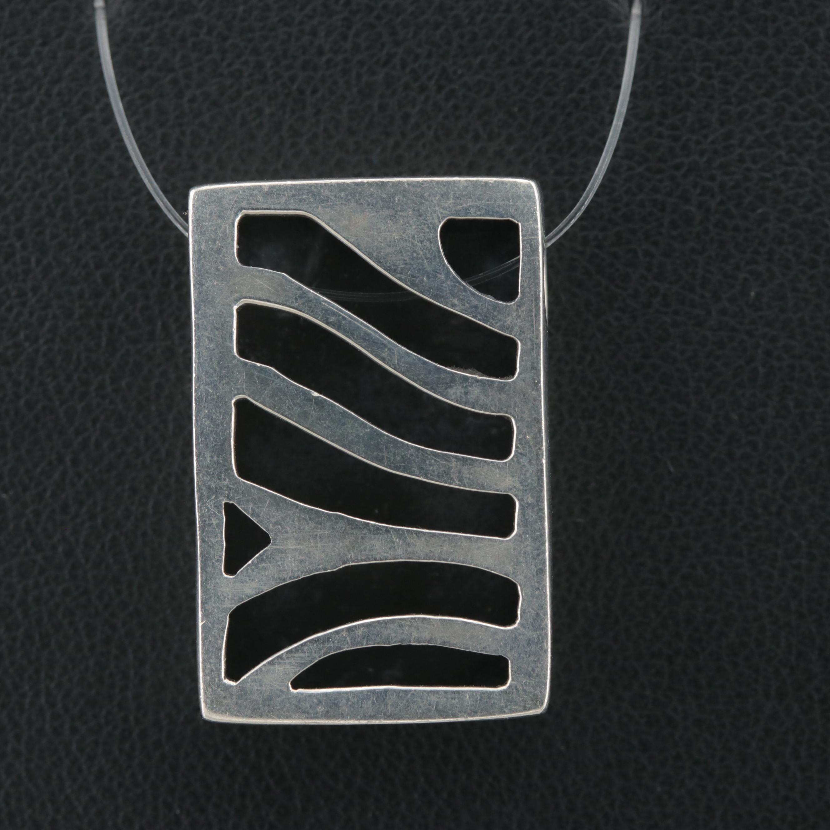 Sterling Silver Shadowbox Pendant