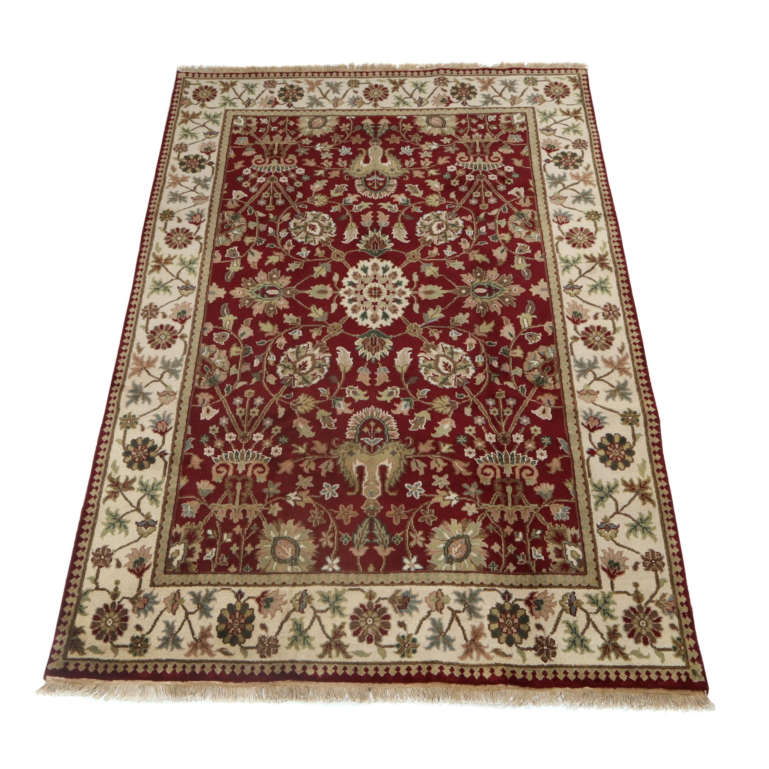 6.1' x 9.4' Hand-Knotted Indo-Persian Tabriz Wool Rug