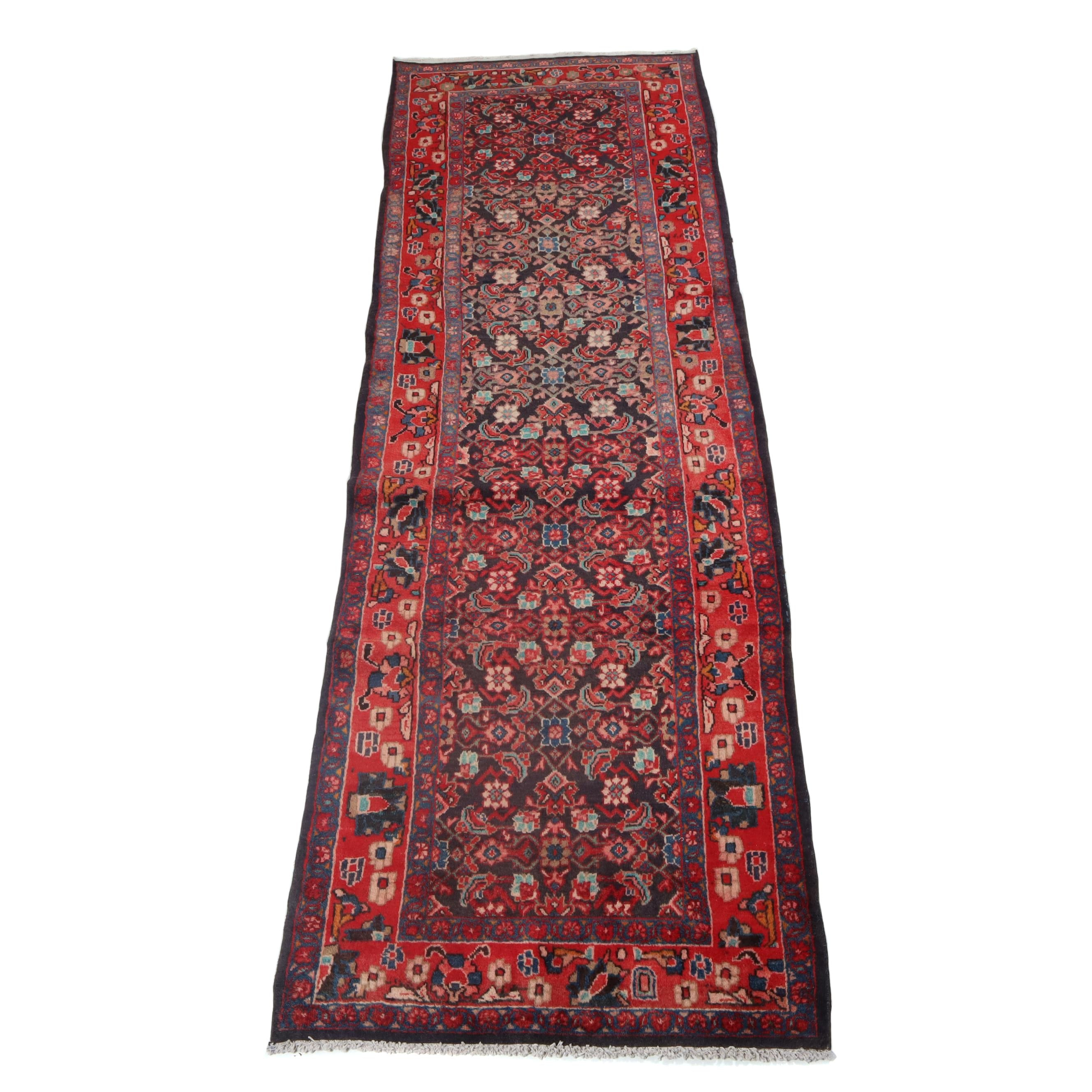 3.7' x 11' Hand-Knotted Northwest Persian Wool Carpet Runner, Circa 1940s