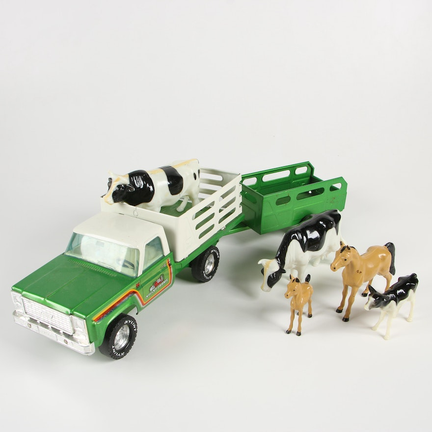 Nylint Toys Farm Truck and Trailer with Animals