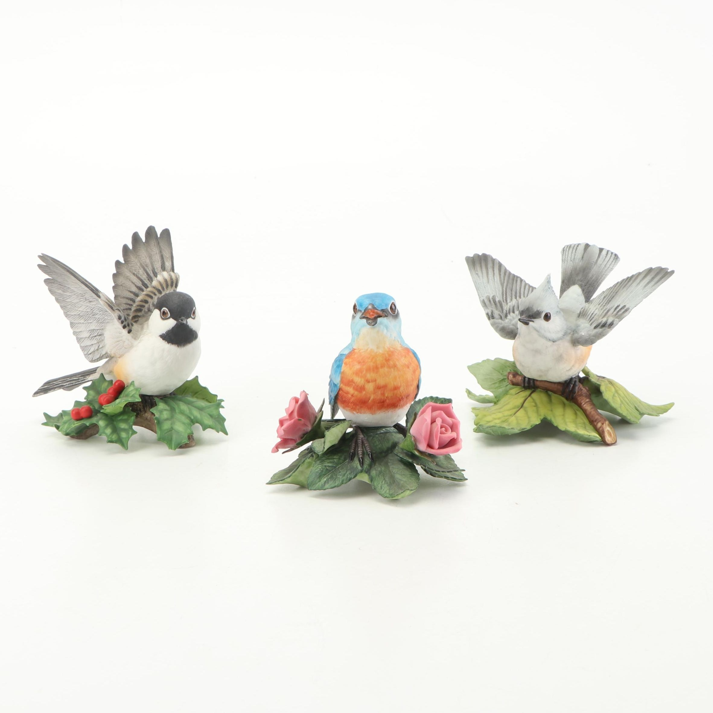 Lenox Hand-Painted Porcelain Bird Figurines, c 1980s