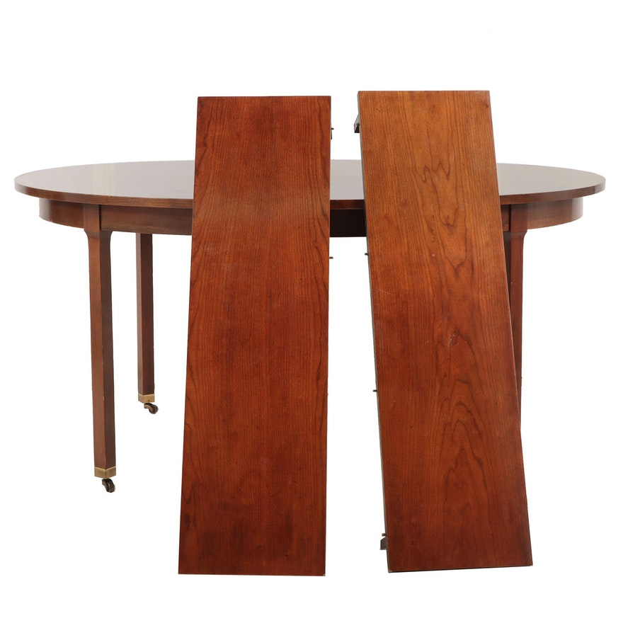 Chippendale Style Dining Table, Late 20th Century