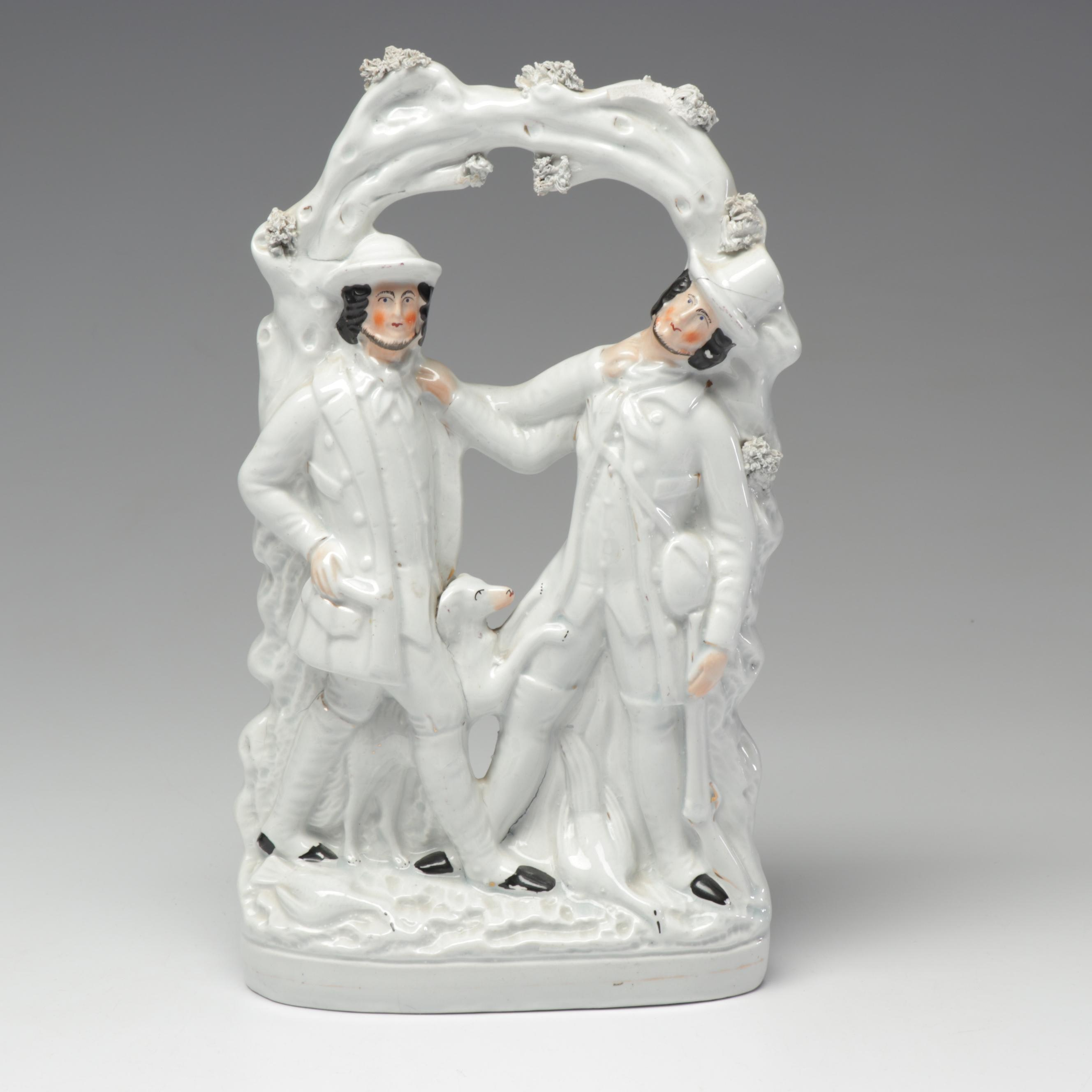 """Staffordshire Style """"Smith and Collier"""" Porcelain Figurine"""