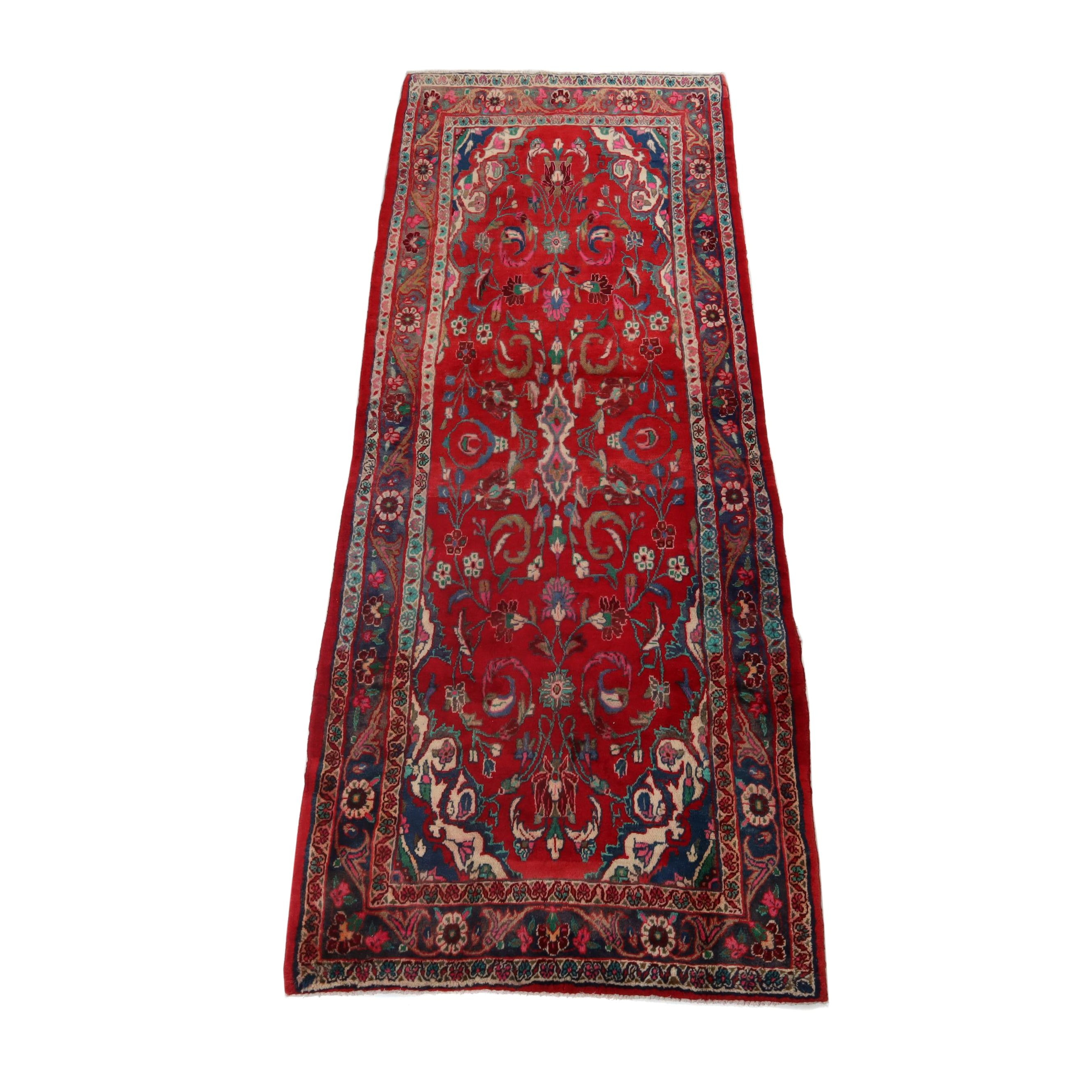 3'7 x 9'6 Hand-Knotted Northwest Persian Wool Long Rug
