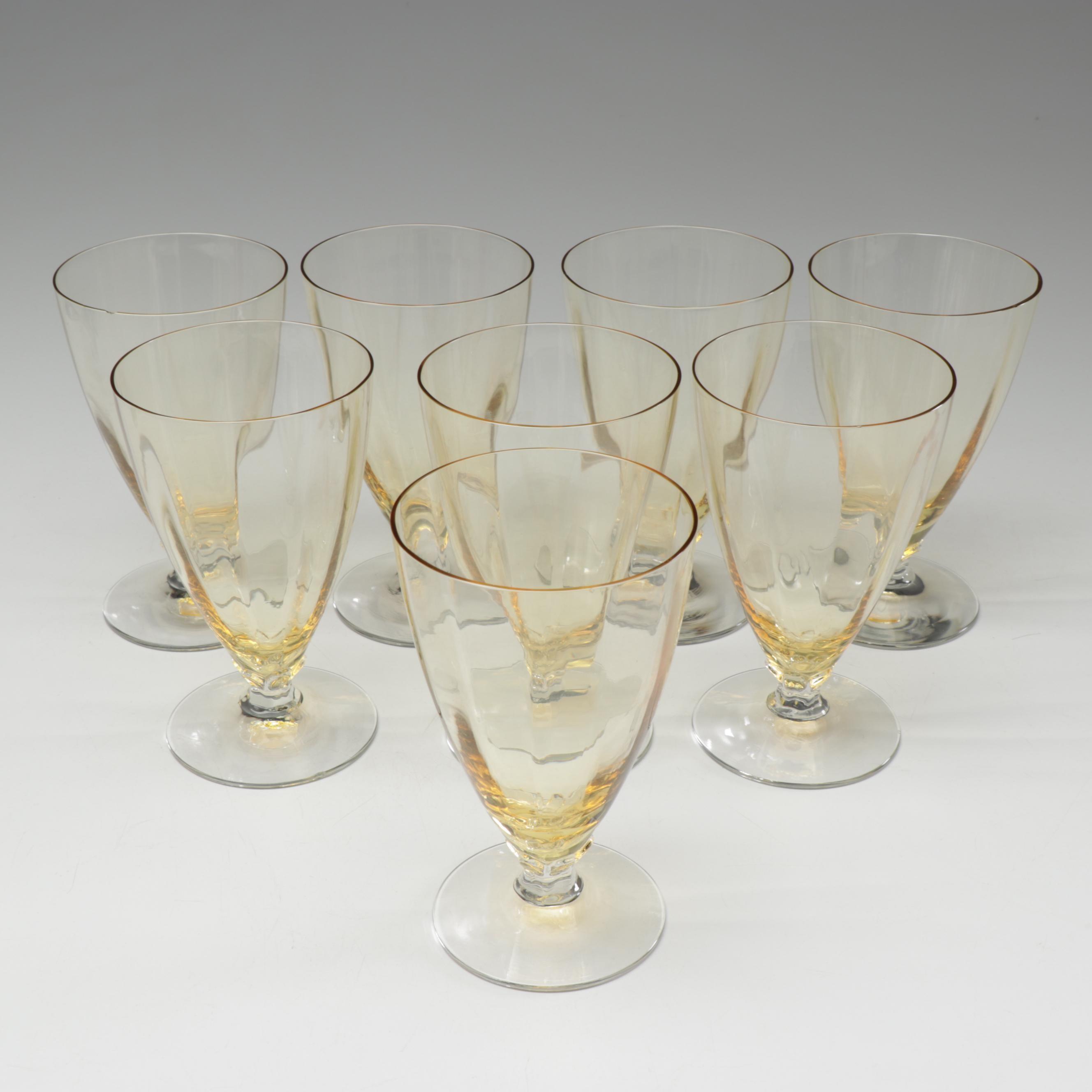 Mid-Century Yellow Tinted Glasses