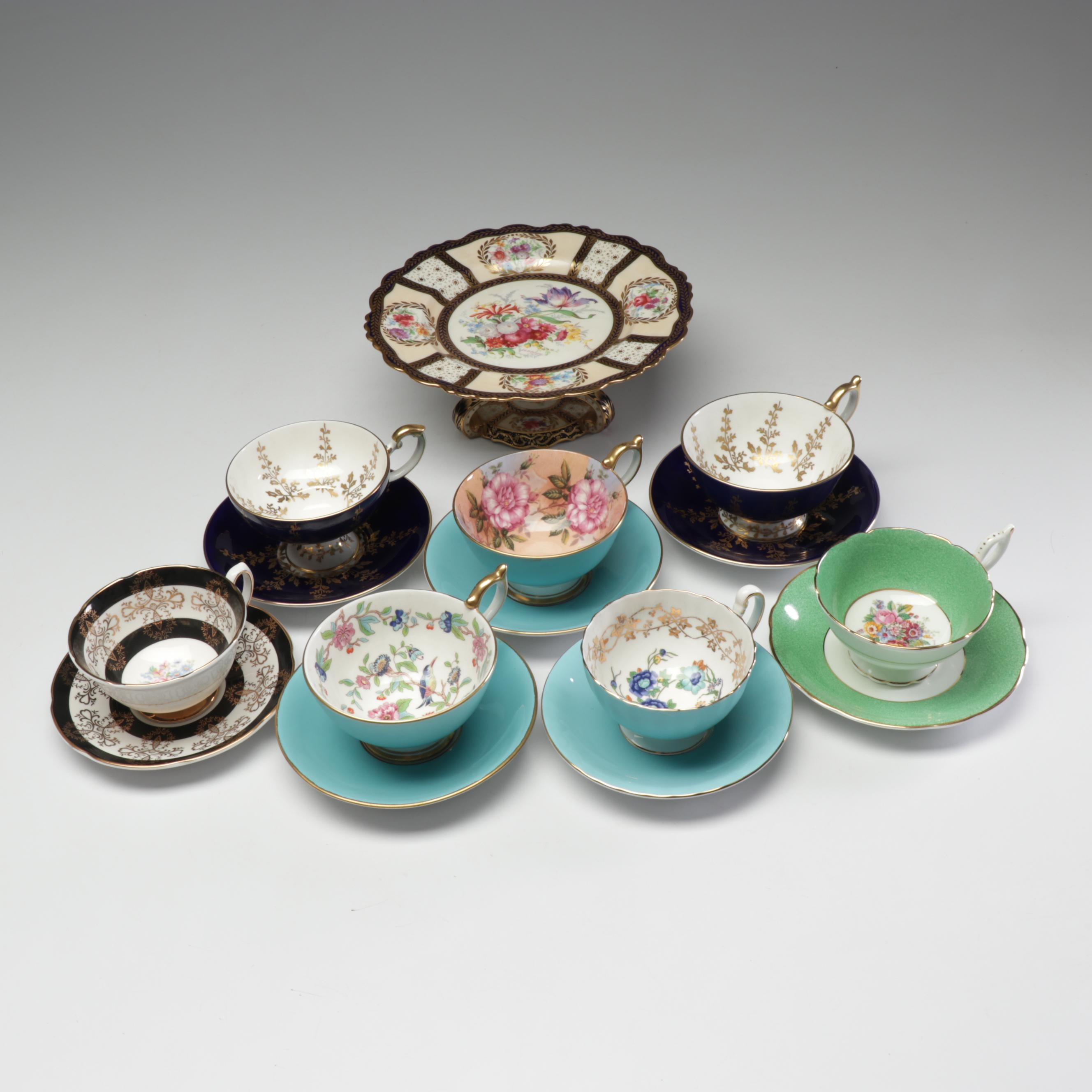 English Bone China Tea Settings and Cake Stand