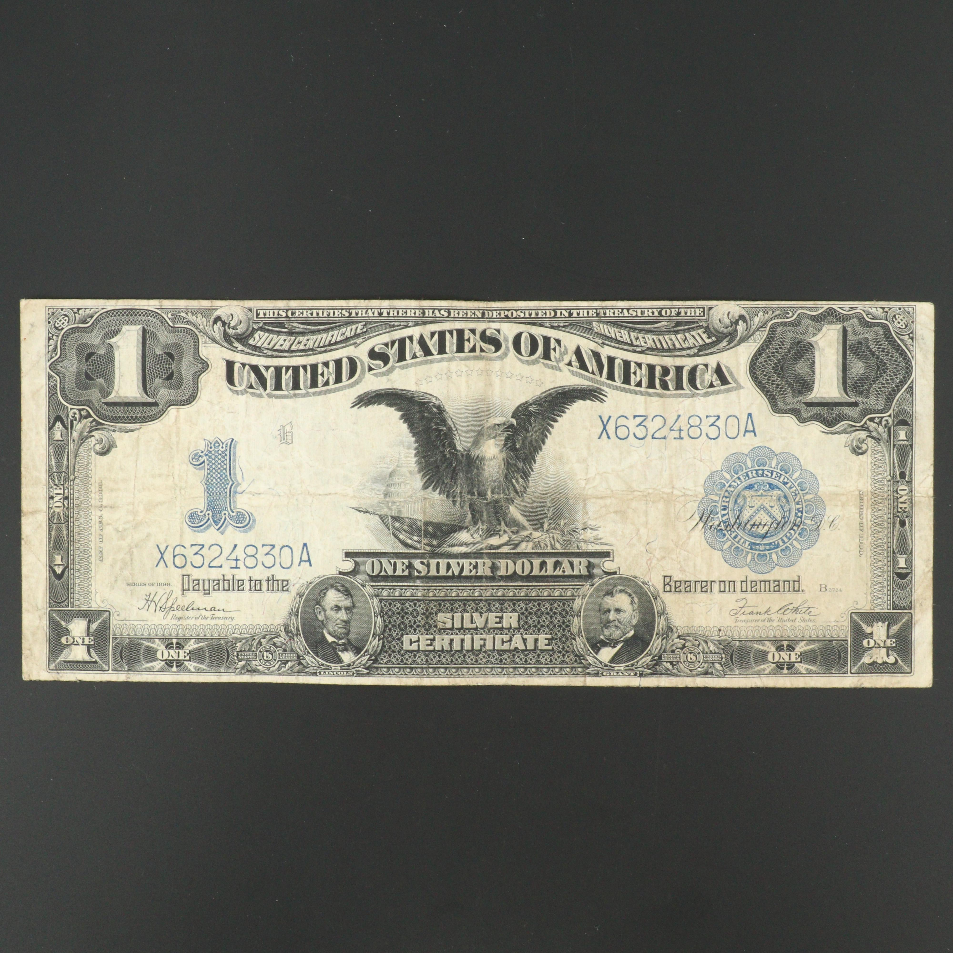 Series off 1899 Blue Seal One Dollar Silver Certificate