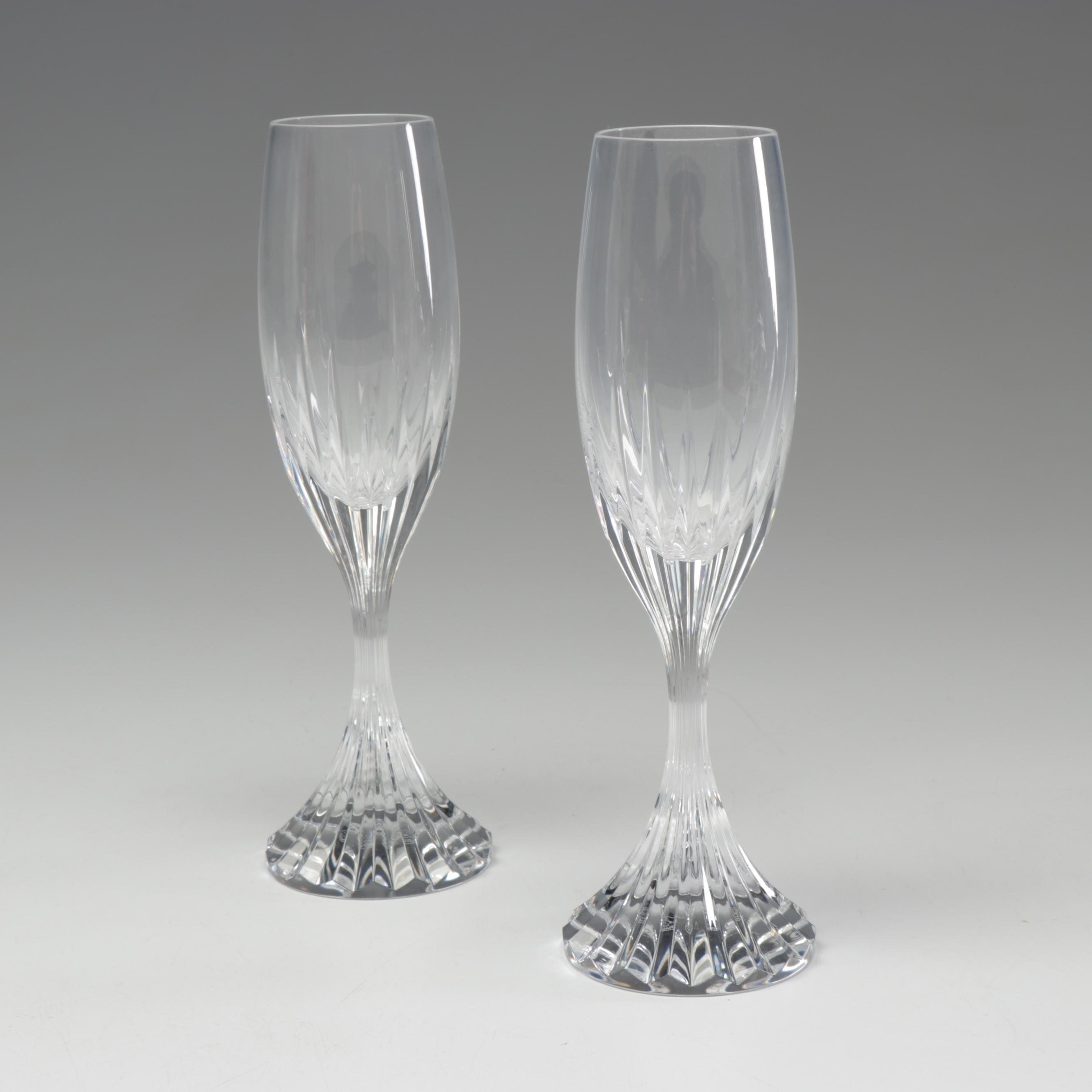 Pair of Baccarat Crystal Flutes