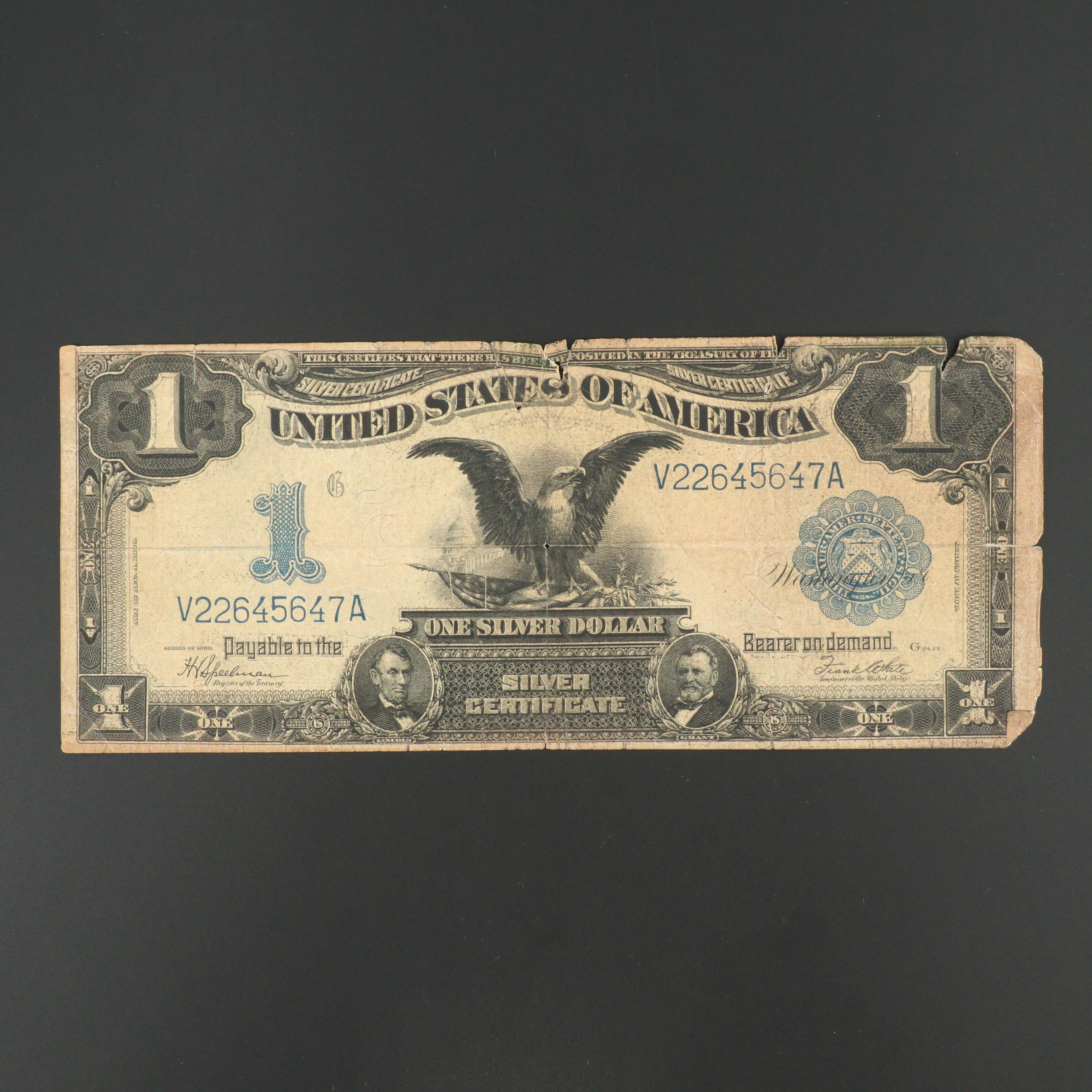 Series of 1899 Blue Seal One Dollar Silver Certificate
