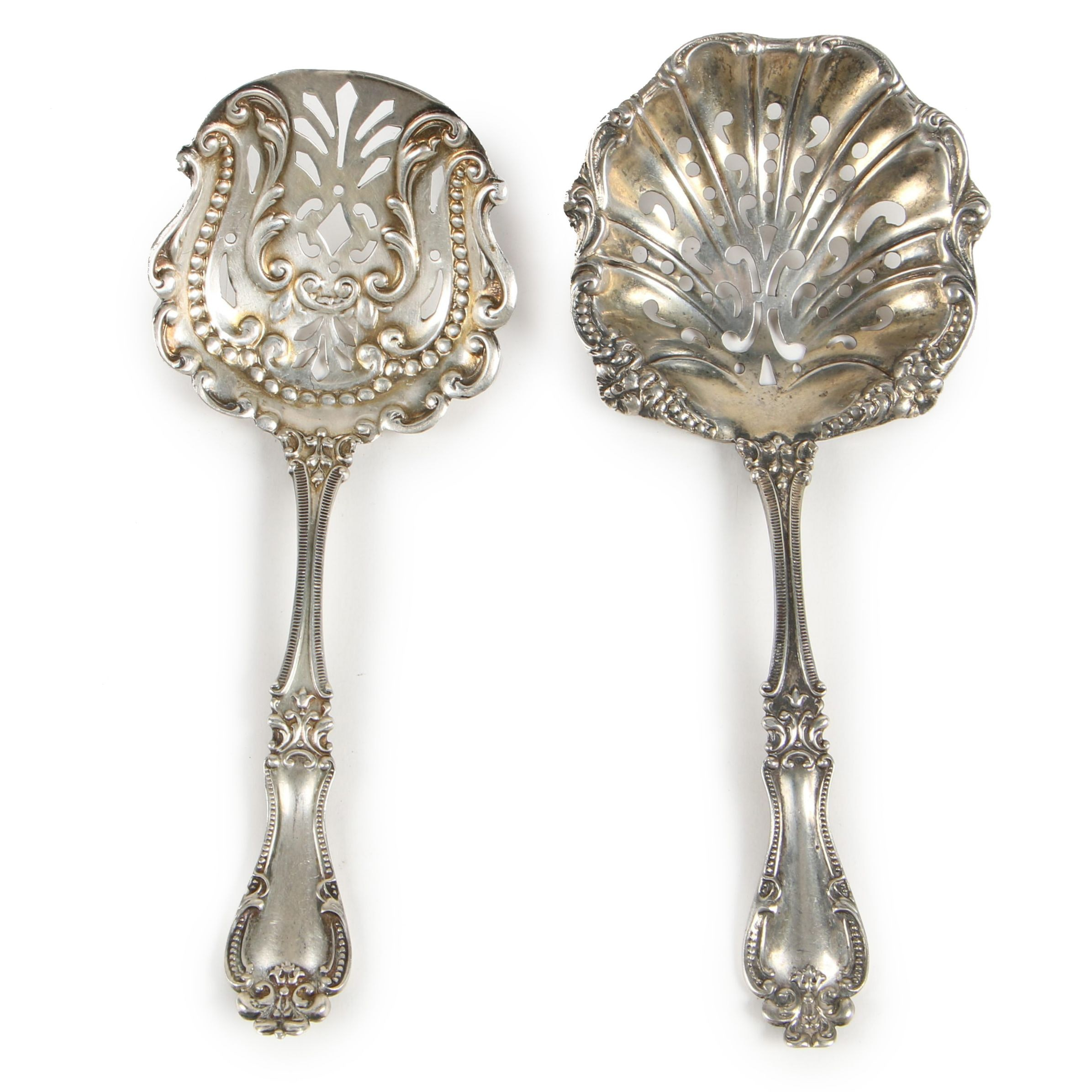 """R. Blackinton & Co. """"Helena"""" Sterling Silver Bonbon Spoon and Scoop, 1900–1967"""