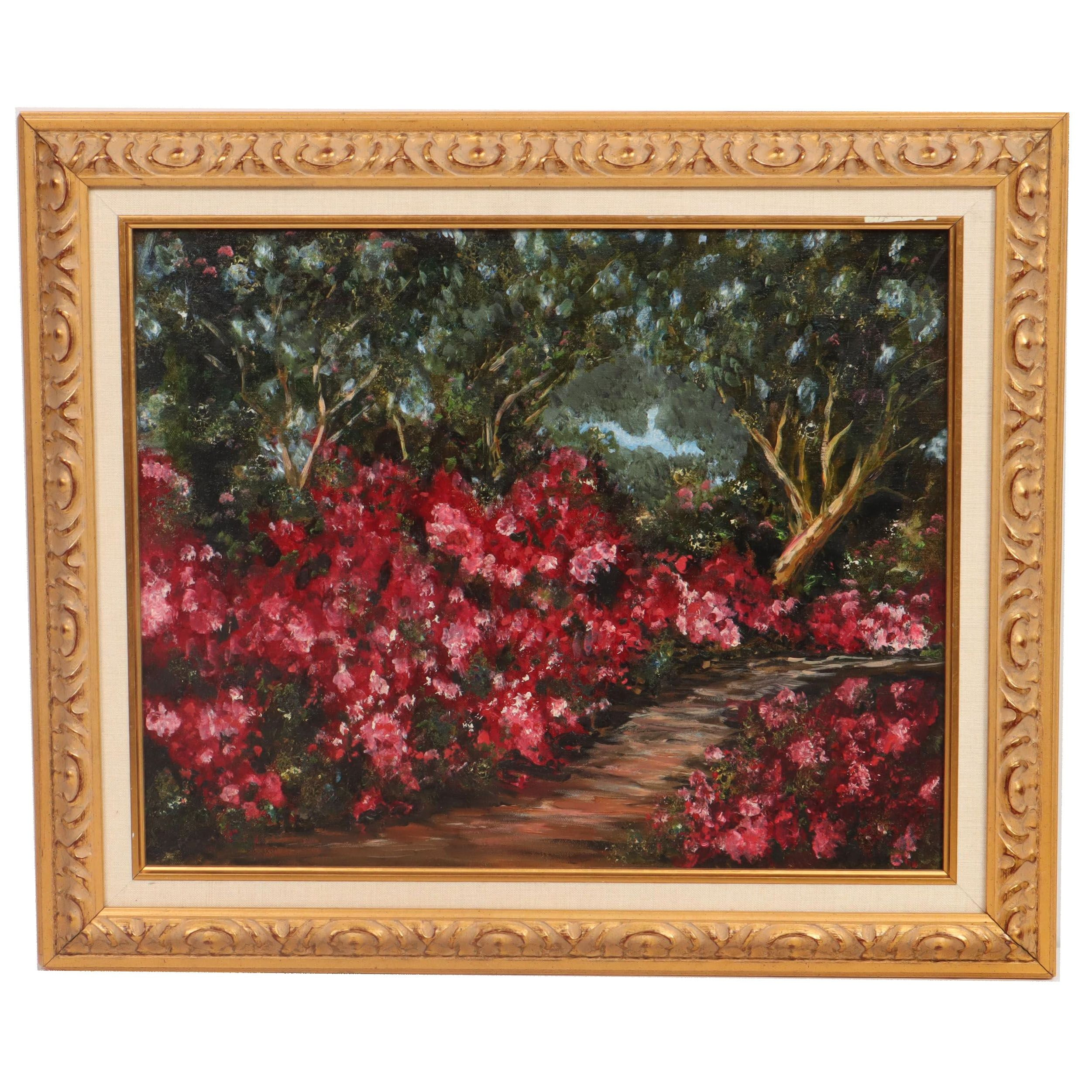 Impressionist Style Covered Landscape Oil Painting