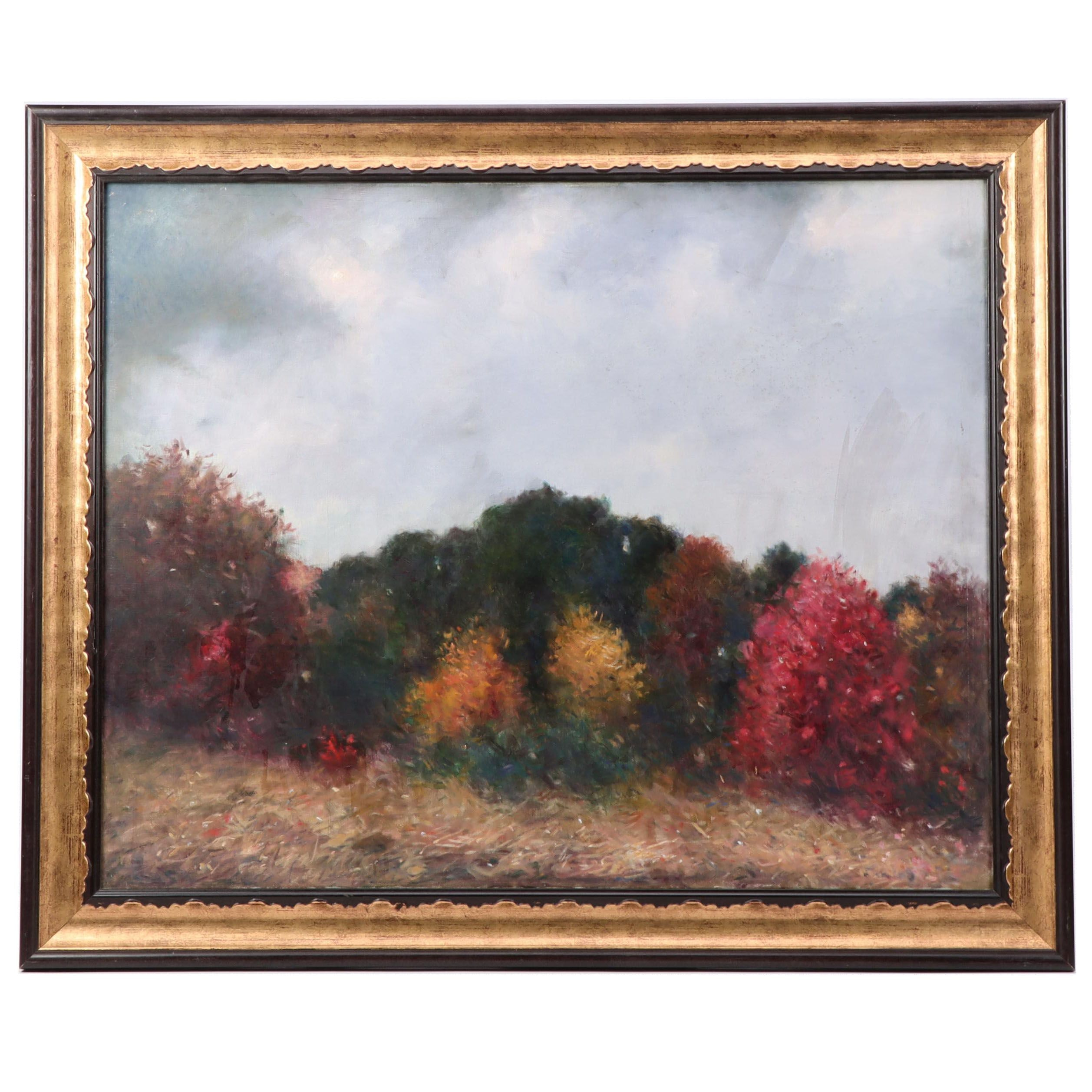 Dana Ripley Pond Landscape Oil Painting