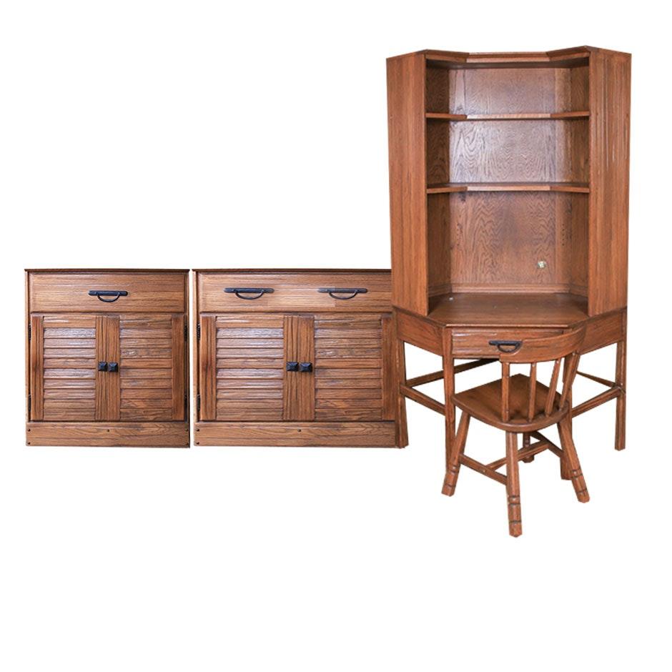 Corner Desk and Cabinets