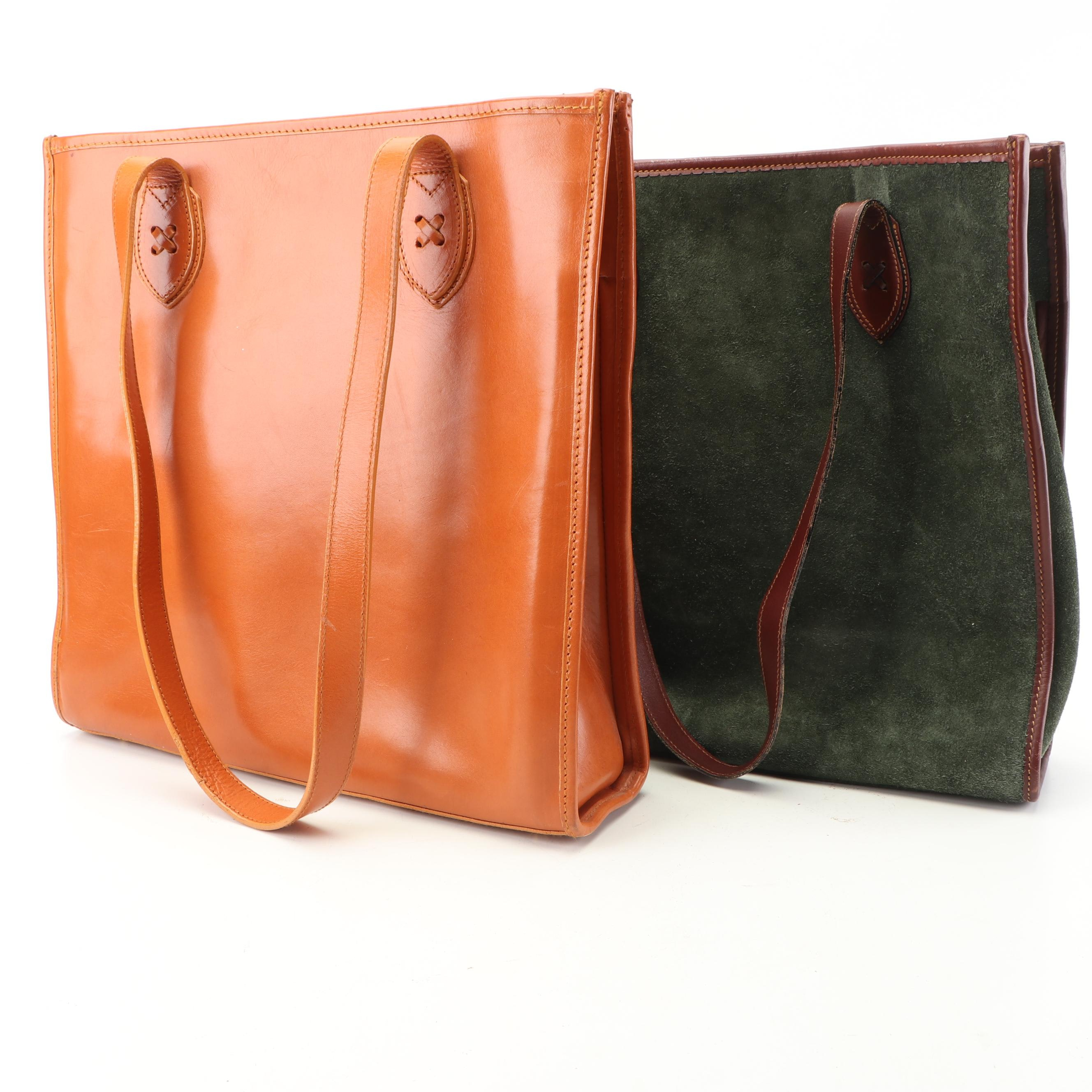 Angel Serrano and Other Leather and Suede Totes and Planners