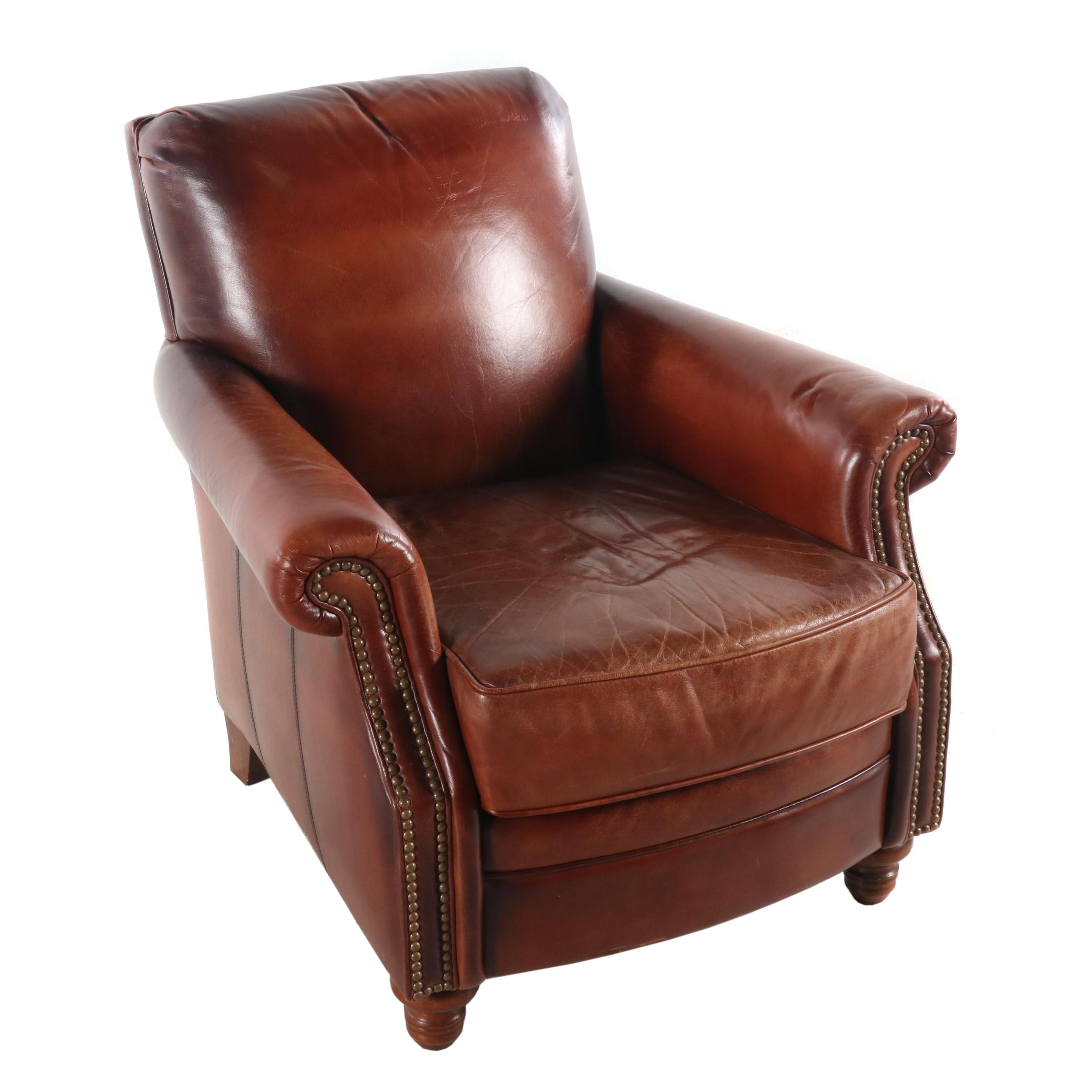 Seven Seas Seating Leather Club Chair, Contemporary
