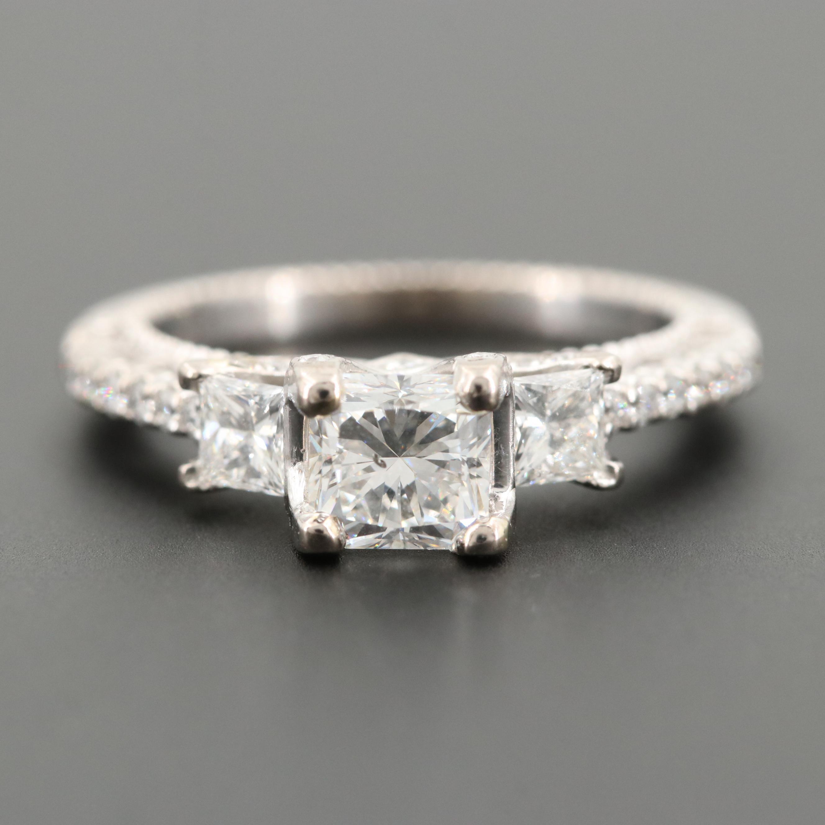 Verragio 18K White Gold 1.53 CTW Diamond Ring