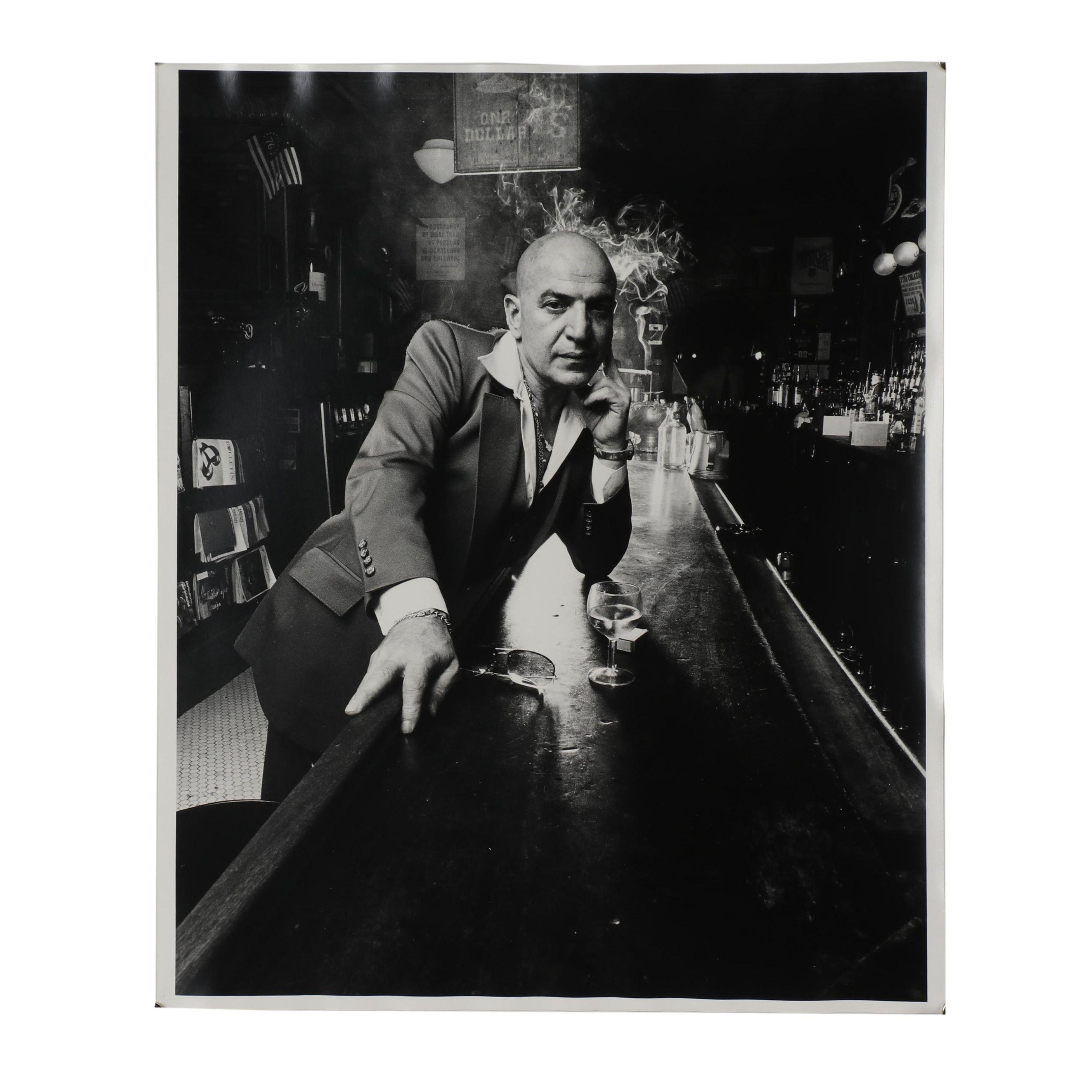 """Carl Fischer Silver Gelatin Print """"Telly Savalas, New York. 1976"""""""