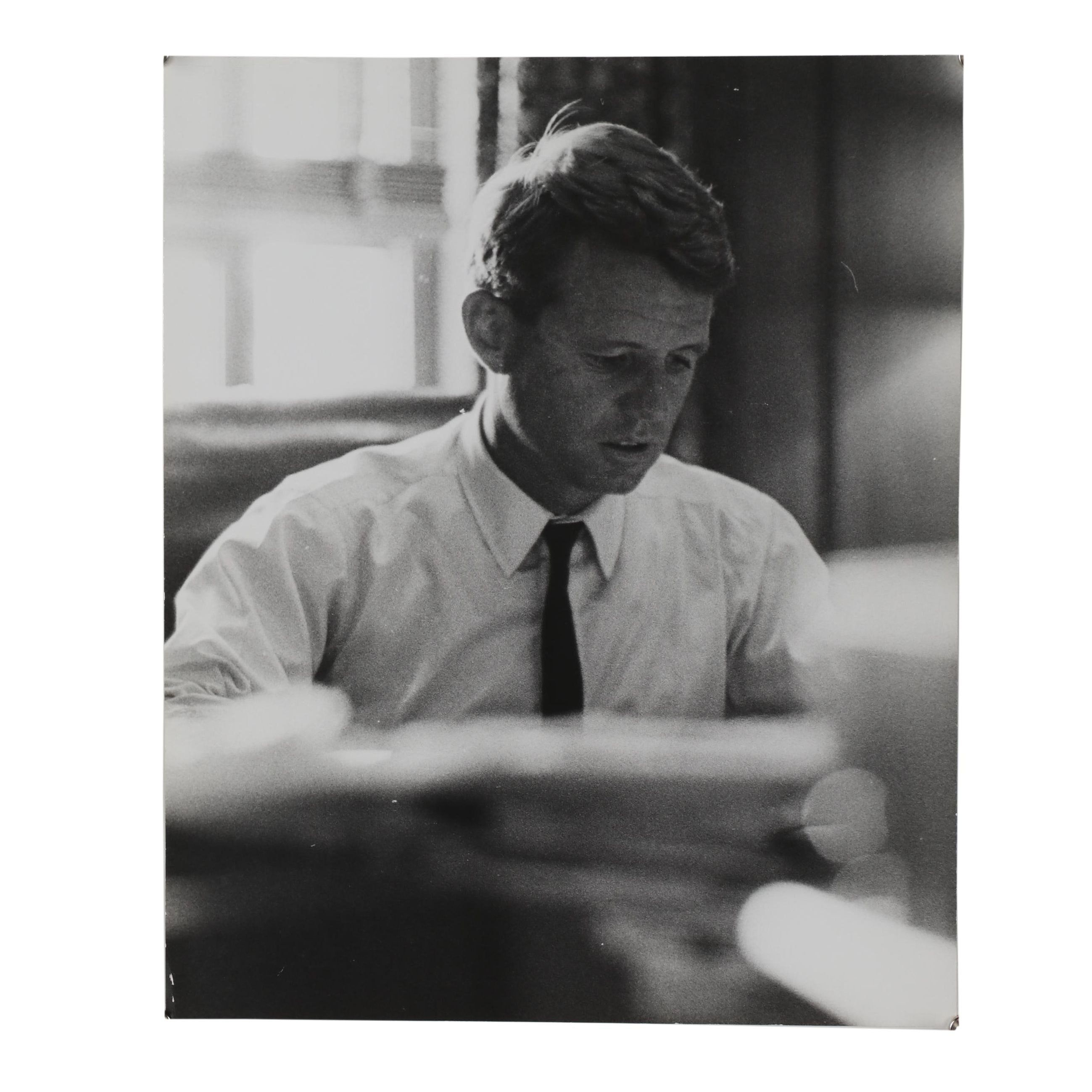 "Carl Fischer Silver Gelatin Print ""Robert F. Kennedy, Washington, D.C. 1964"""
