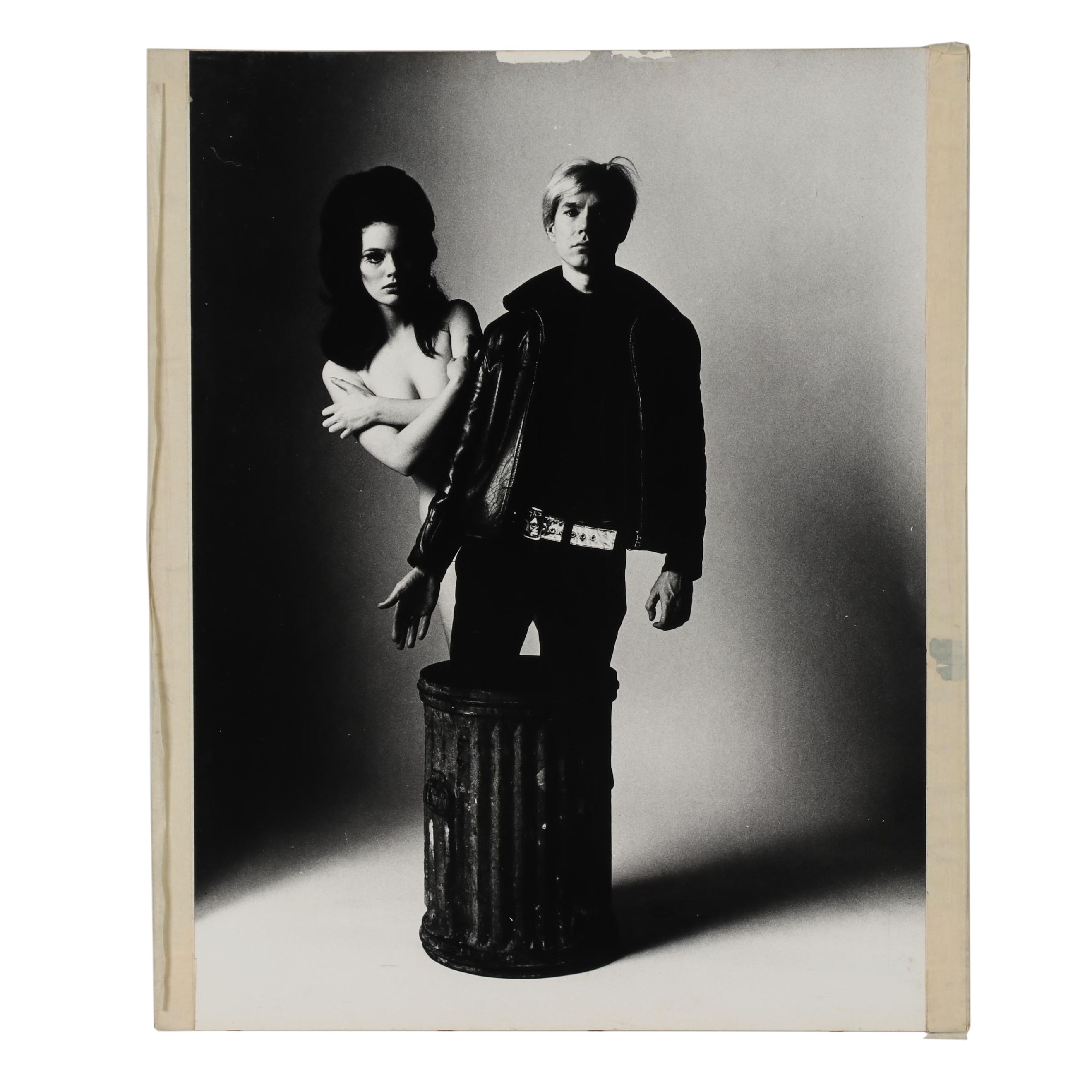 "Carl Fischer Silver Gelatin Print ""Susan Bottomly and Andy Warhol"""