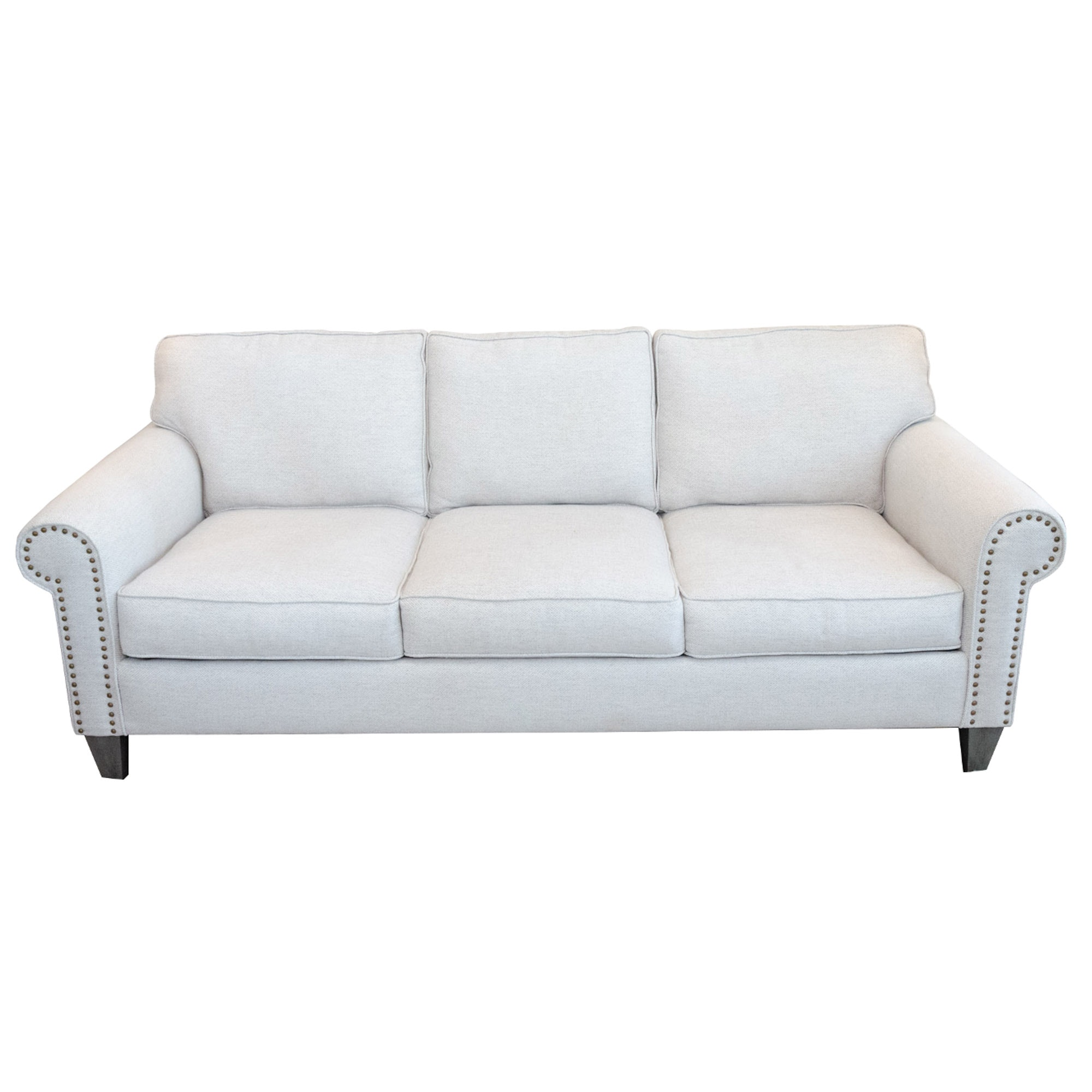 Rowe Furniture Light Grey Upholstered Sofa, Contemporary