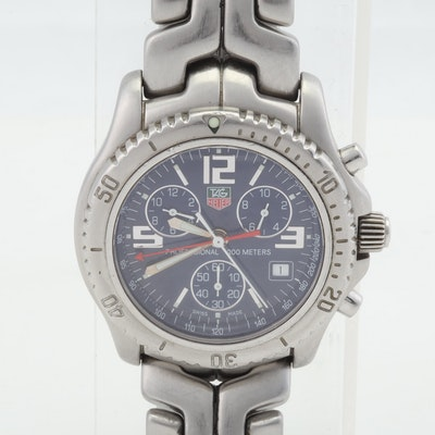 TAG Heuer Professional 200M Chronograph Quartz 42mm Stainless Steel Wristwatch