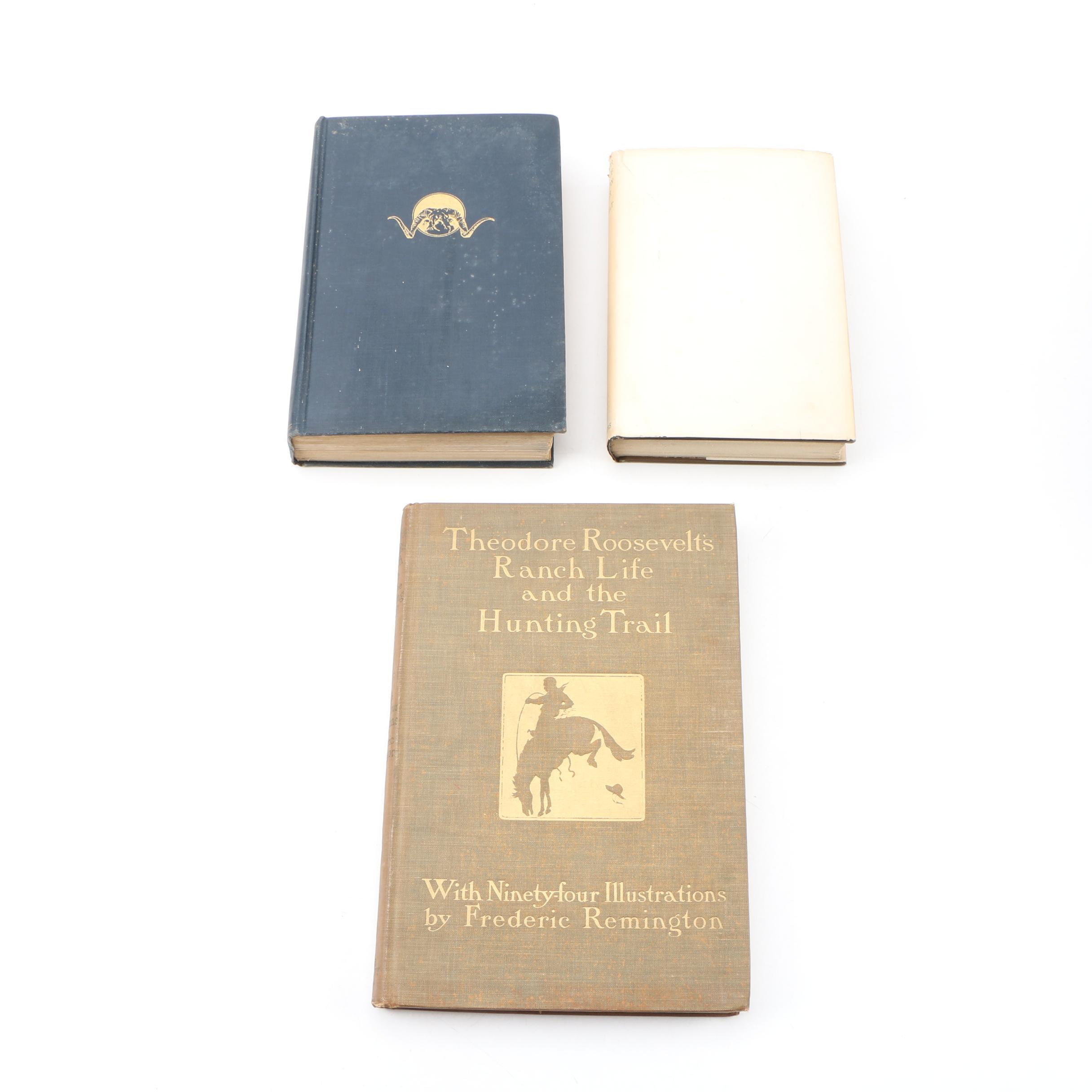 """Theodore Roosevelt Books featuring First Edition """"East of the Sun..."""""""