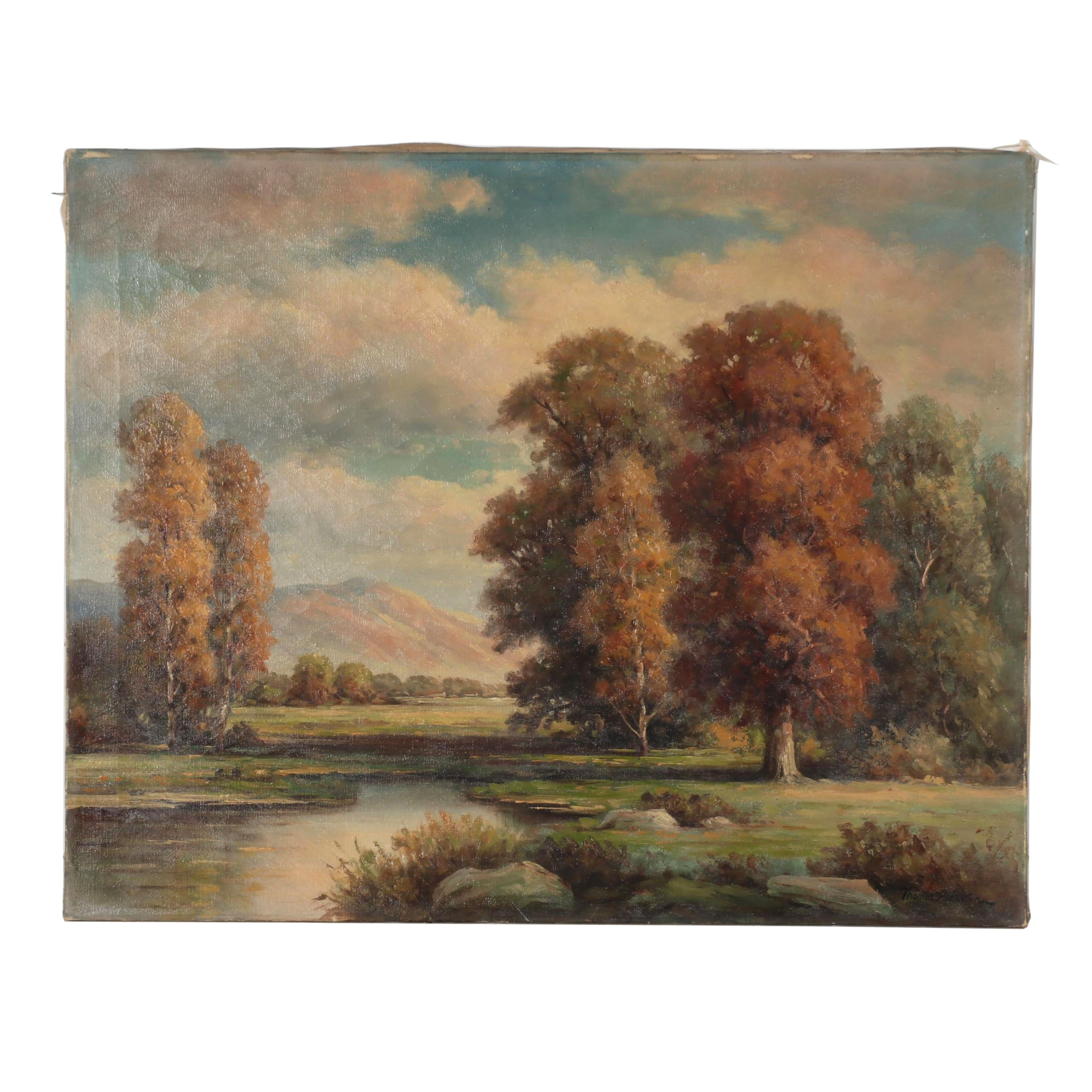 Thomas P. Patten Landscape Oil Painting