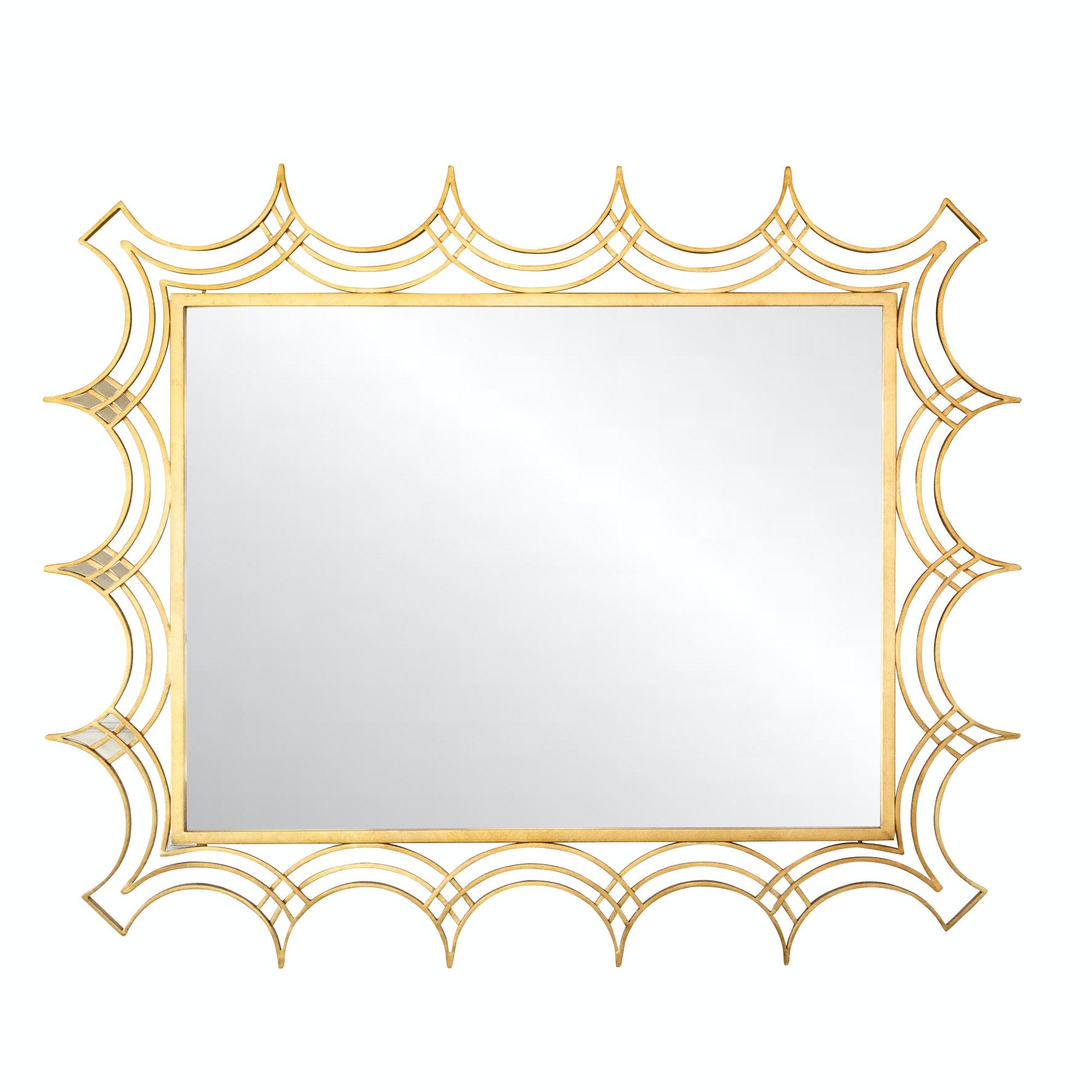 """Uttermost """"Kiowa"""" Gilt Metal Wall Mirror"""