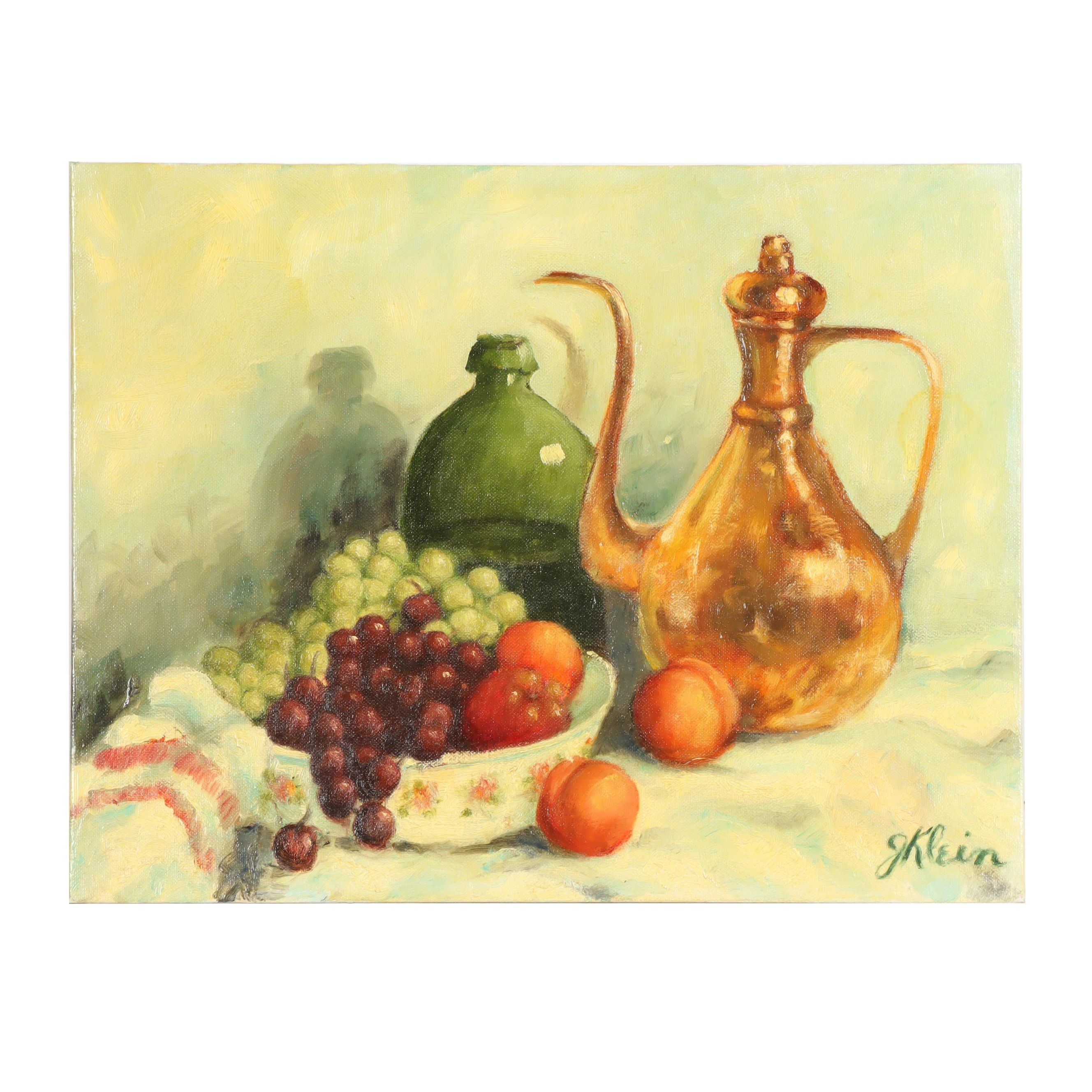 George Klein Still Life Oil Painting