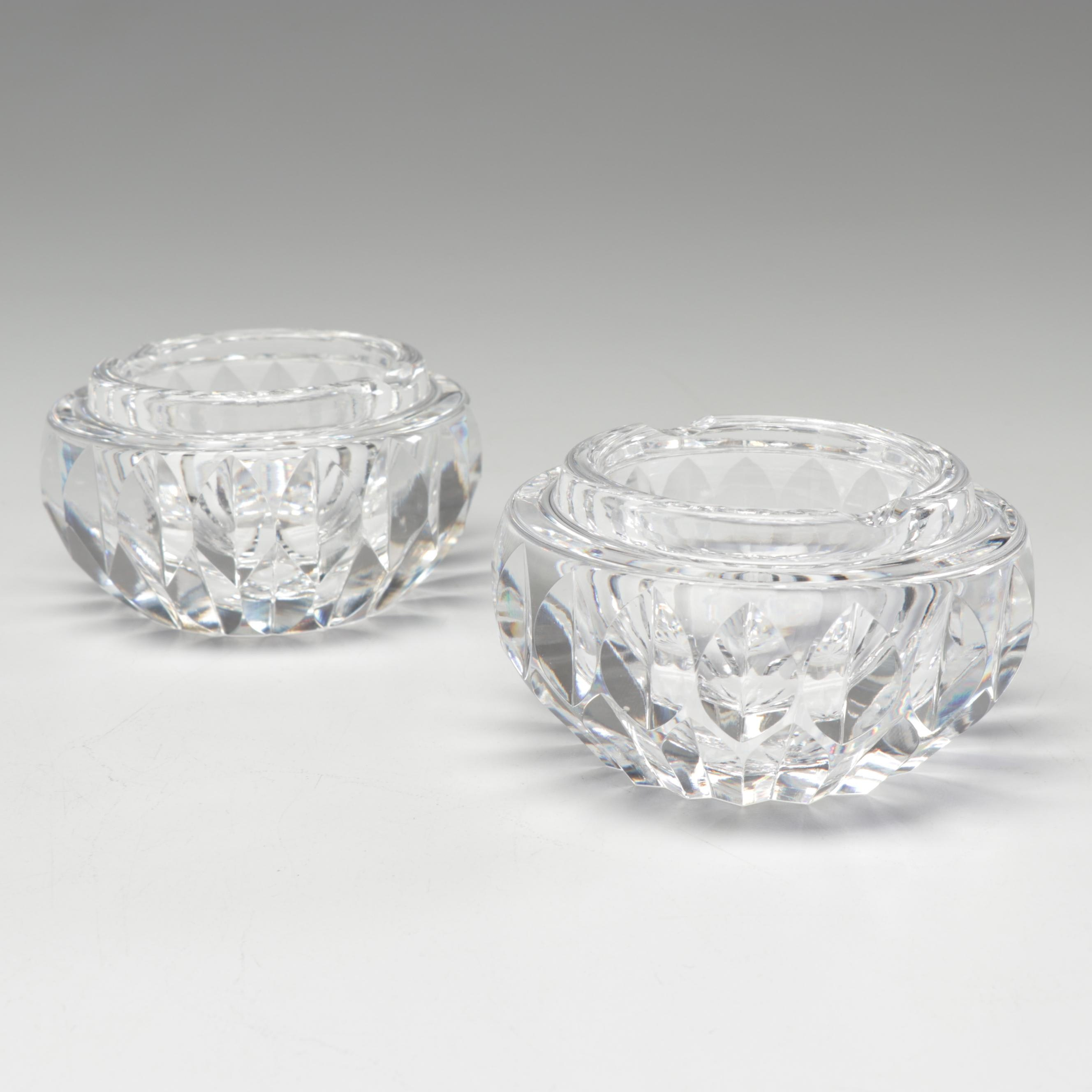 Waterford Crystal Ashtrays, Late 20th Century