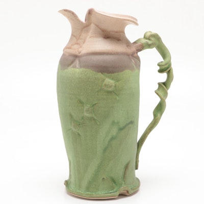 Larry Watson Thrown and Altered Porcelain Pitcher, Contemporary