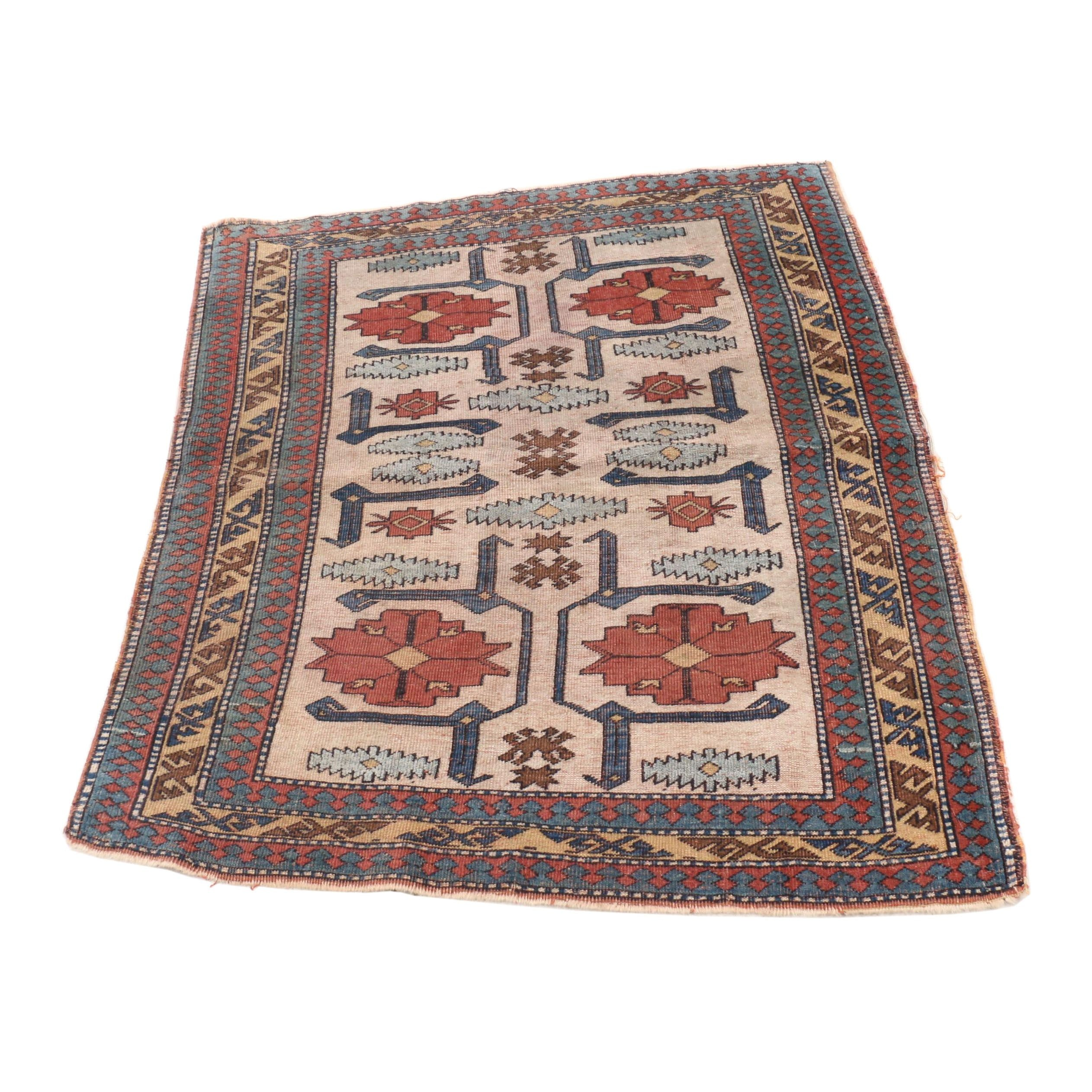 Hand-Knotted Caucasian Karabagh Wool Rug