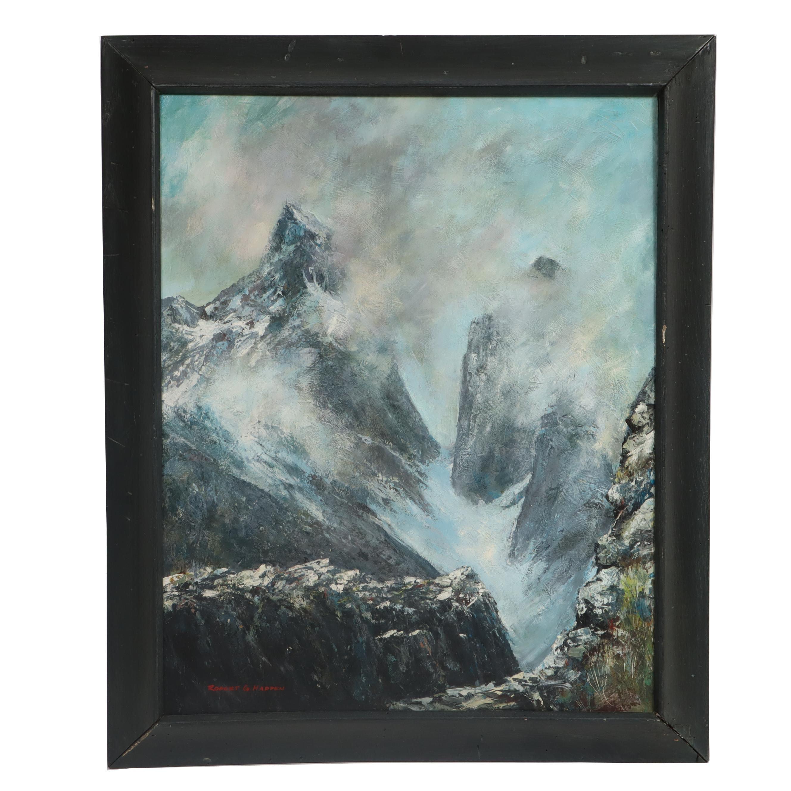 Robert G. Hadden Mountain Landscape Oil Painting