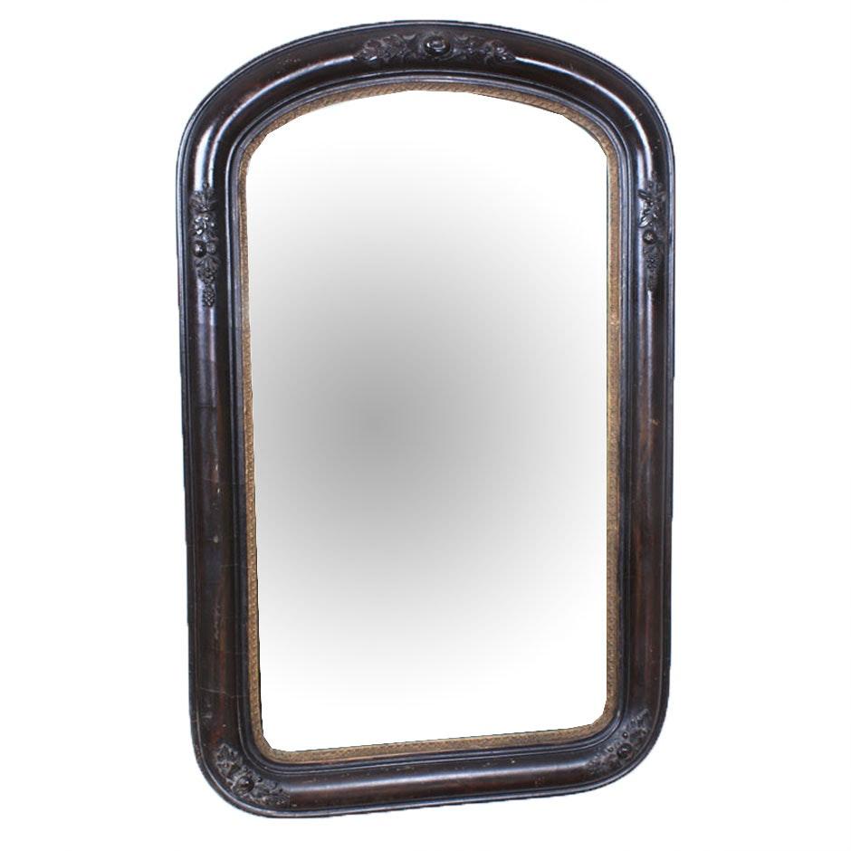 Mahogany Veneered Framed Wall Mirror, Early 20th Century